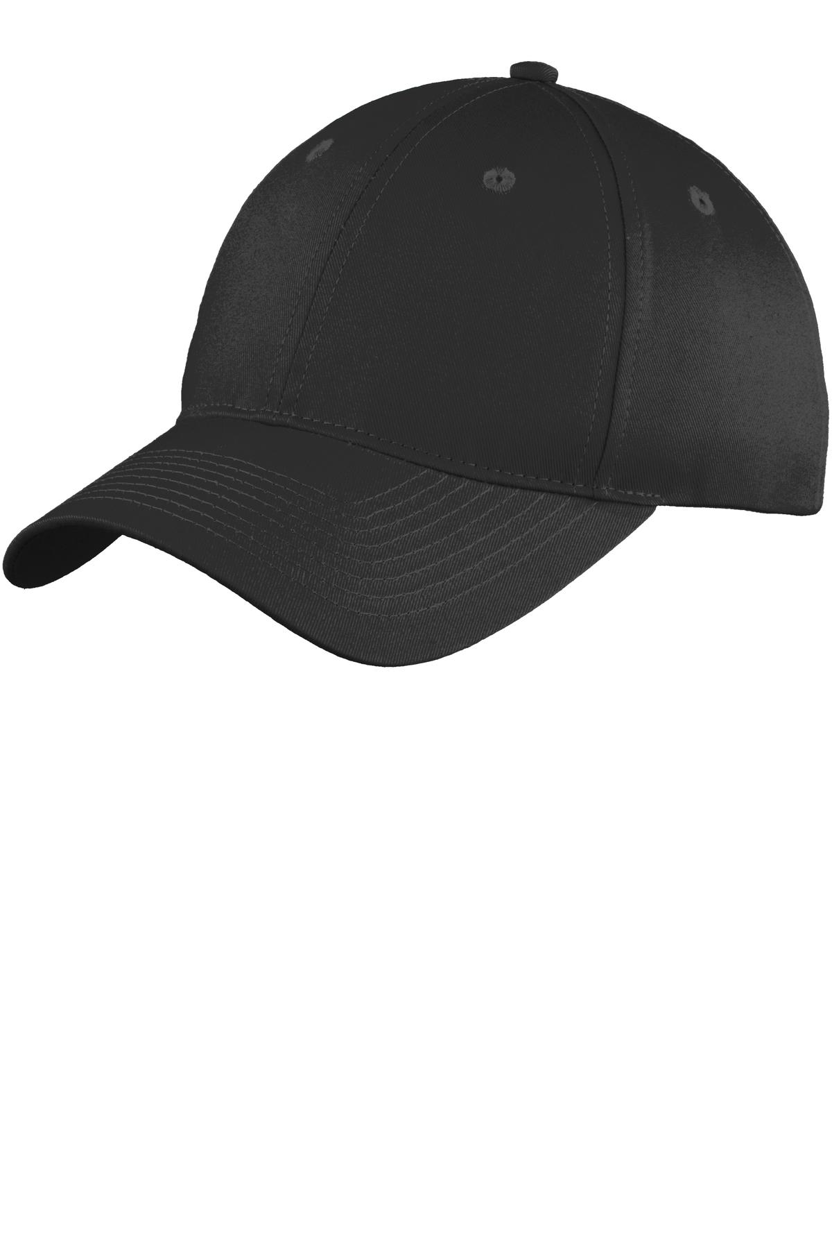 Port & Company ®  Six-Panel Unstructured Twill Cap. C914 - Black