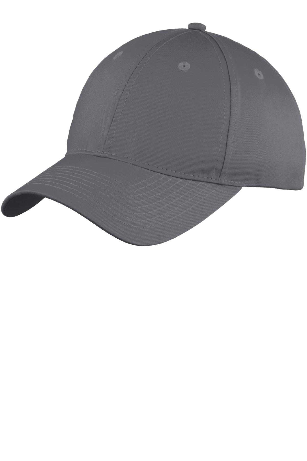 Port & Company ®  Six-Panel Unstructured Twill Cap. C914 - Charcoal
