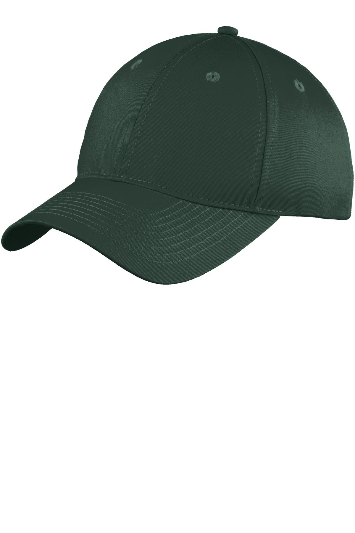 Port & Company ®  Six-Panel Unstructured Twill Cap. C914 - Hunter