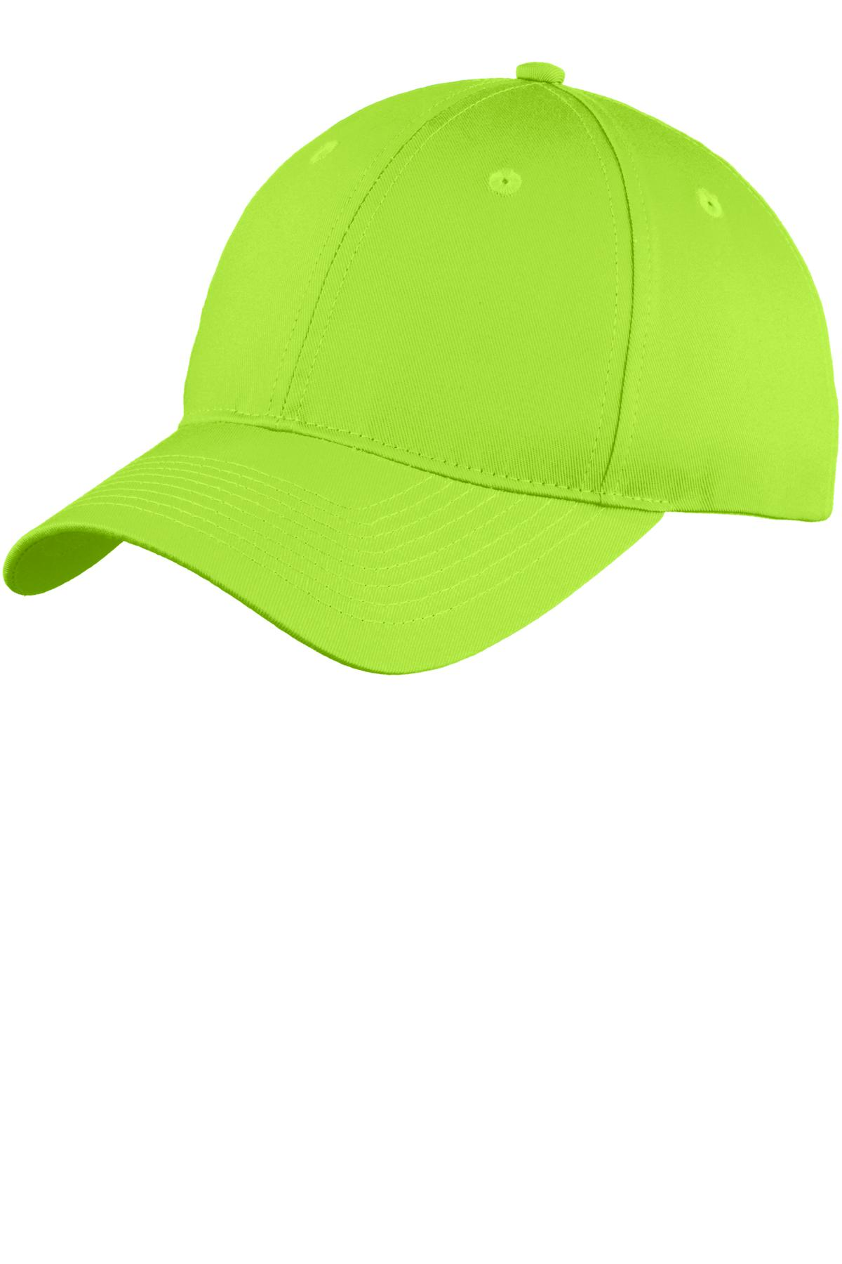 Port & Company ®  Six-Panel Unstructured Twill Cap. C914 - Lime