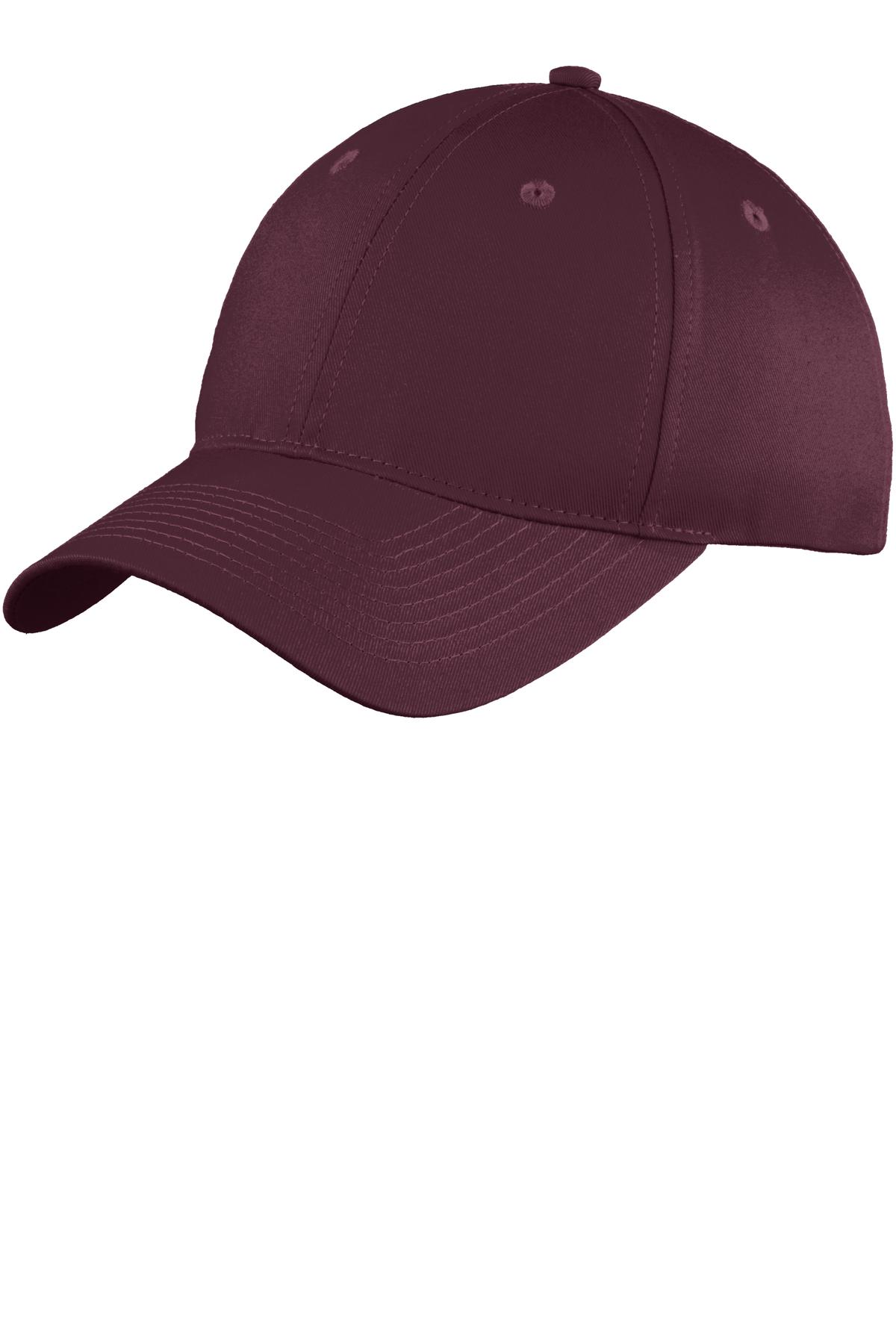 Port & Company ®  Six-Panel Unstructured Twill Cap. C914 - Maroon