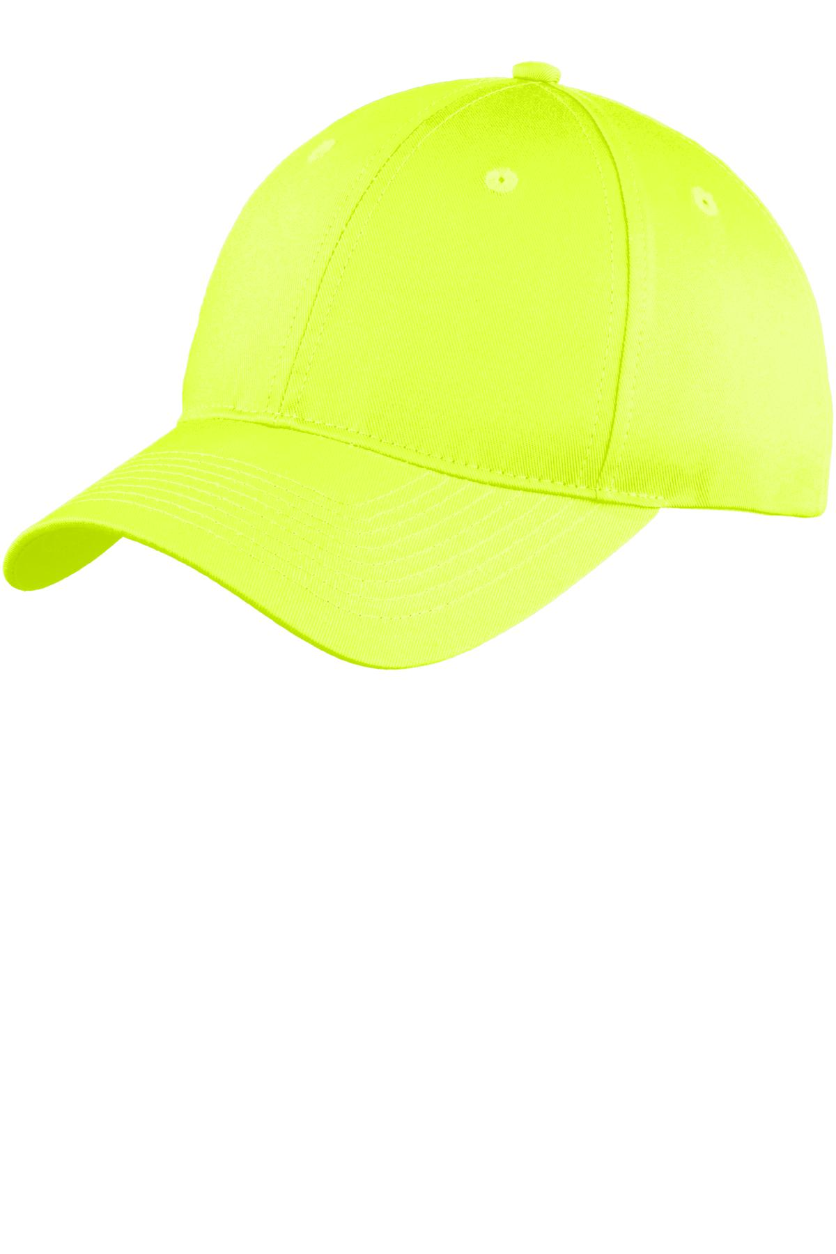 Port & Company ®  Six-Panel Unstructured Twill Cap. C914 - Neon Yellow