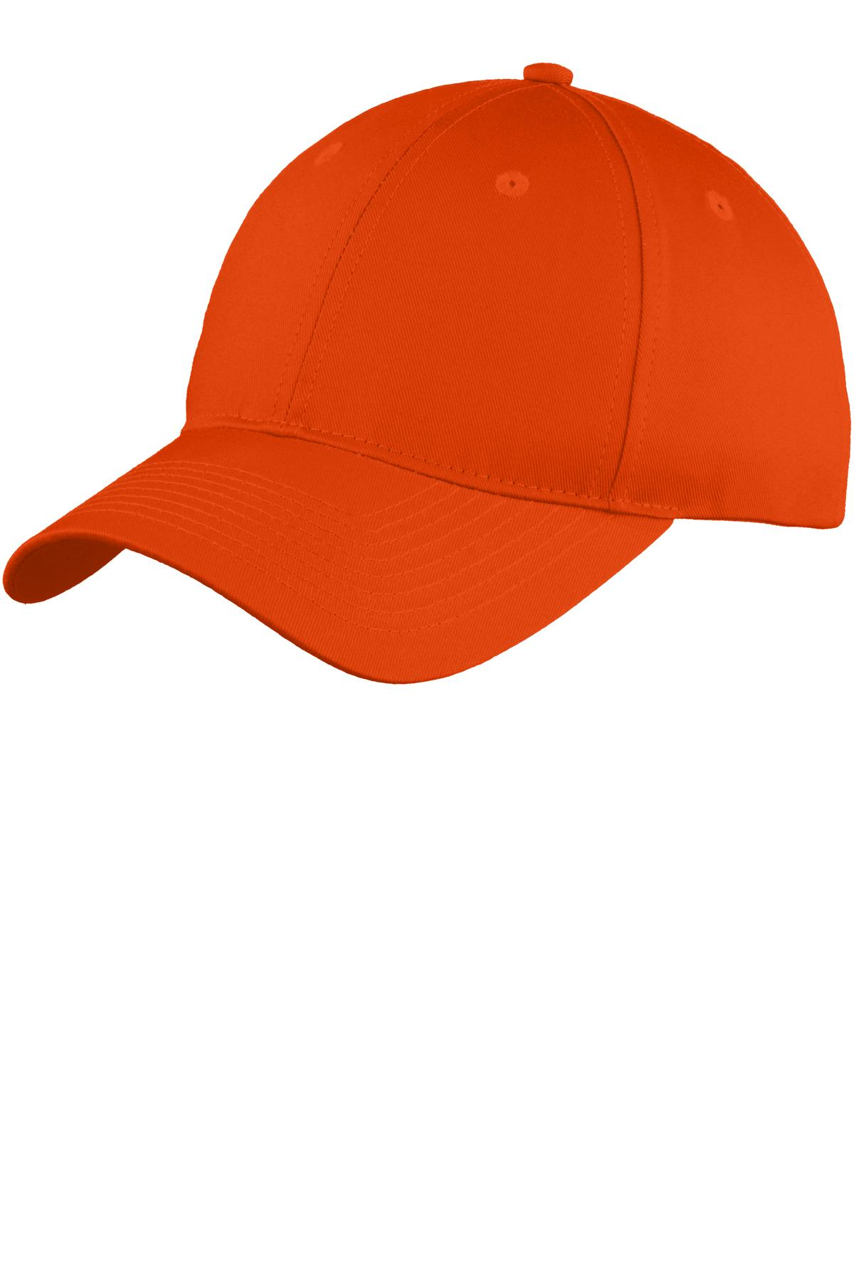 Port & Company ®  Six-Panel Unstructured Twill Cap. C914 - Orange