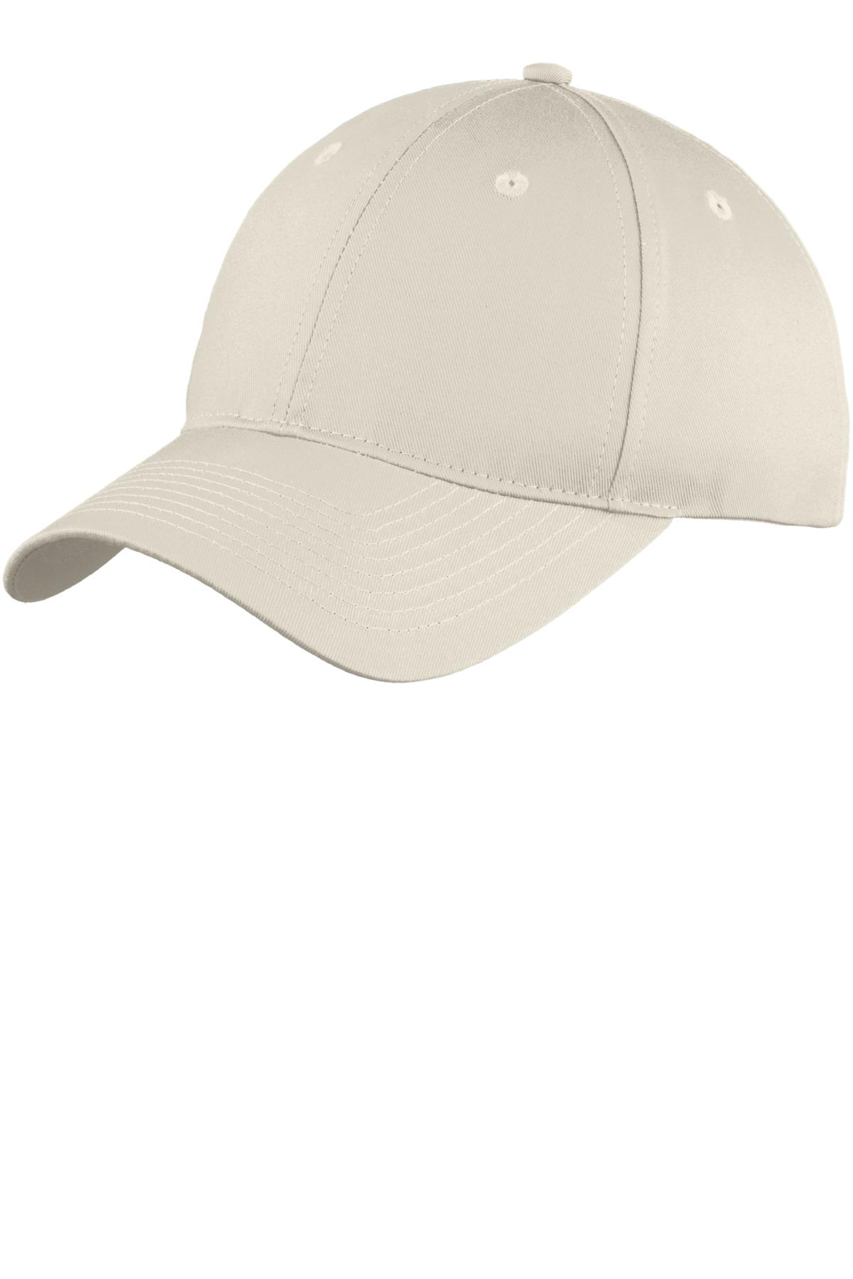Port & Company ®  Six-Panel Unstructured Twill Cap. C914 - Oyster