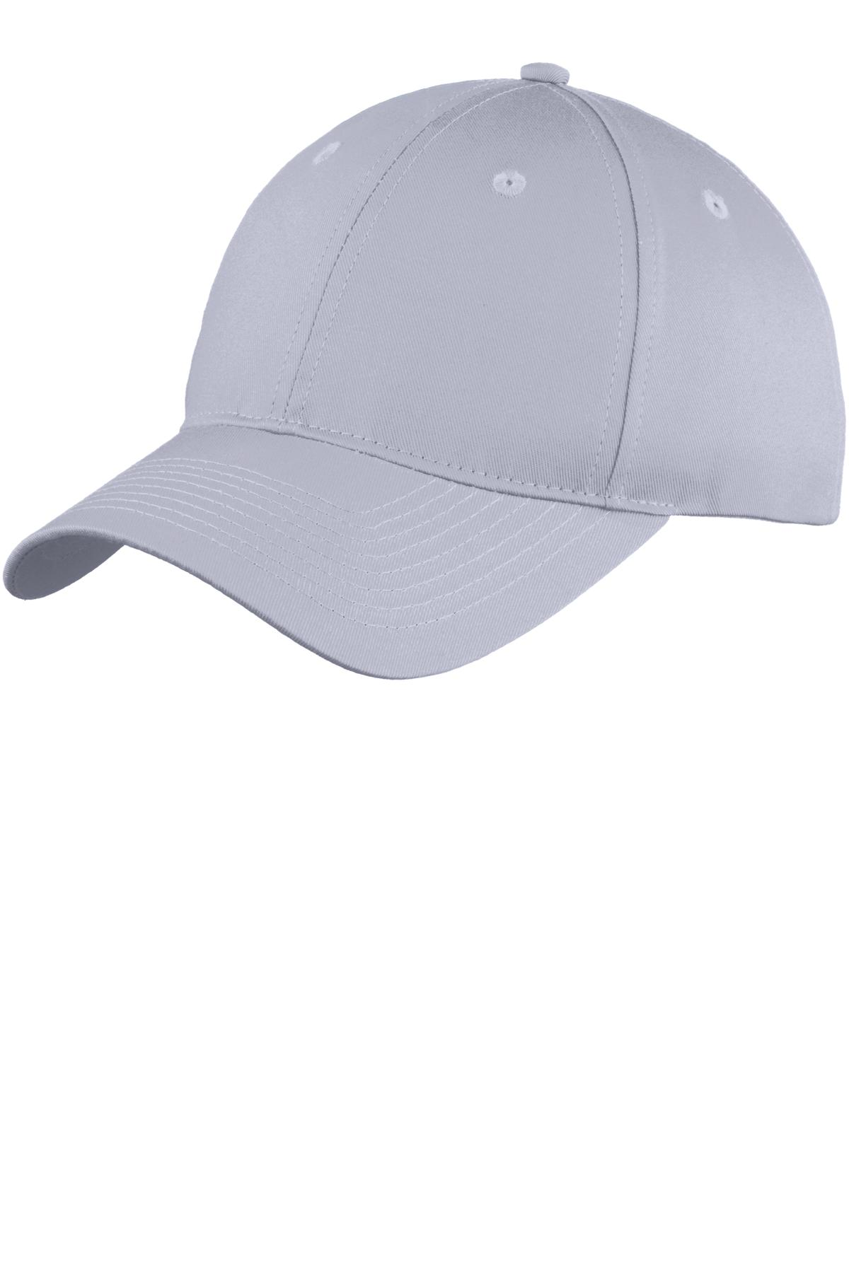 Port & Company ®  Six-Panel Unstructured Twill Cap. C914 - Silver