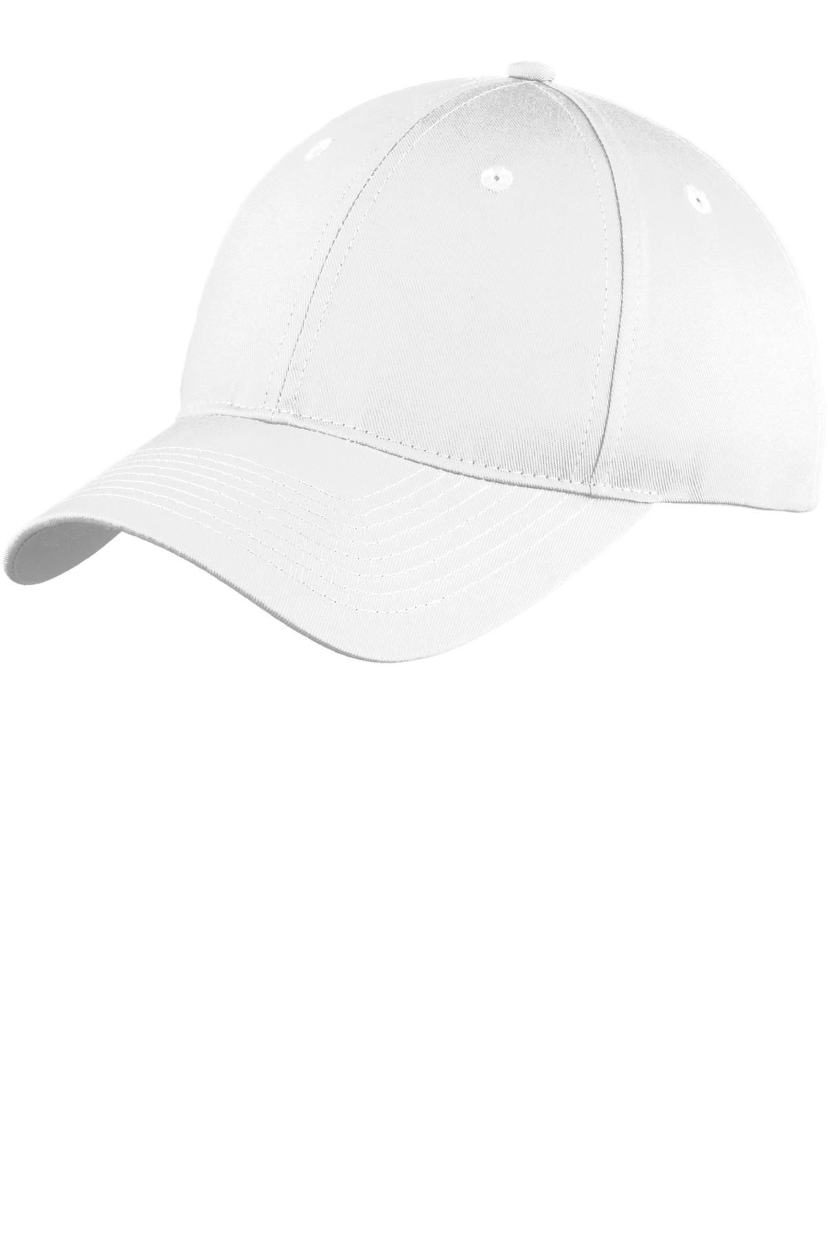 Port & Company ®  Six-Panel Unstructured Twill Cap. C914 - White