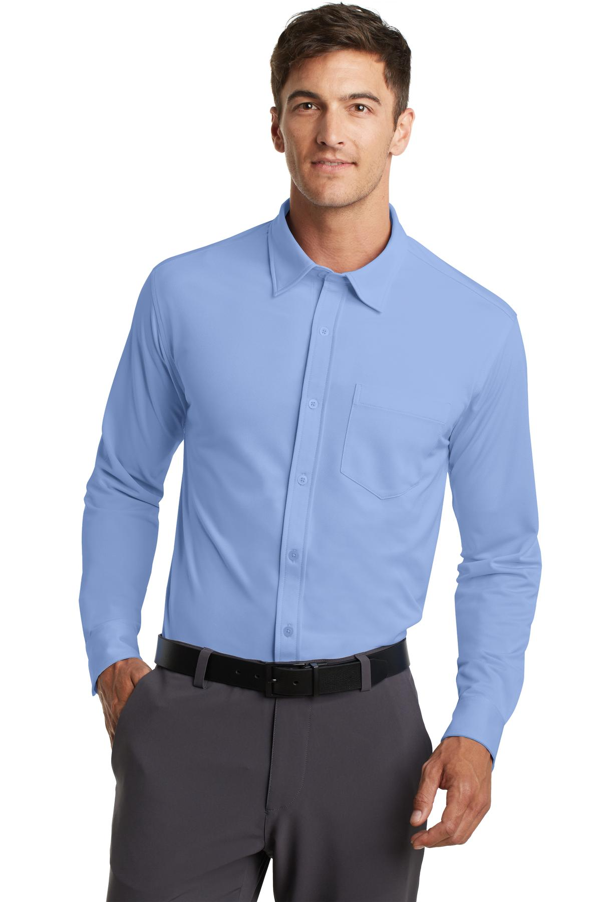 Port Authority Dimension Knit Dress Shirt. K570