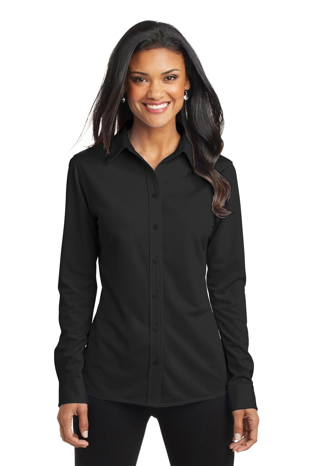 Port Authority ®  Ladies Dimension Knit Dress Shirt. L570 - Black