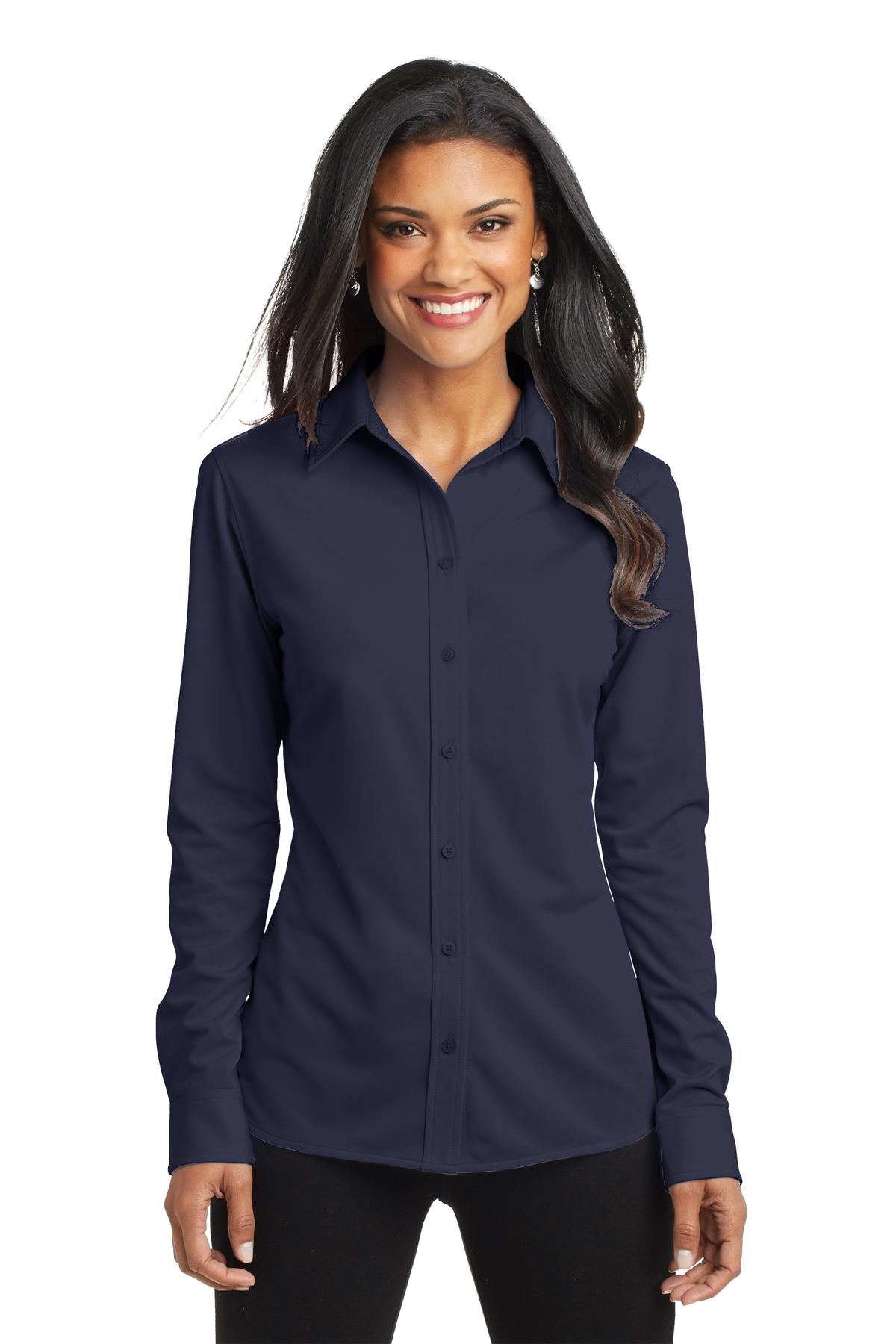 Port Authority ®  Ladies Dimension Knit Dress Shirt. L570 - Dark Navy