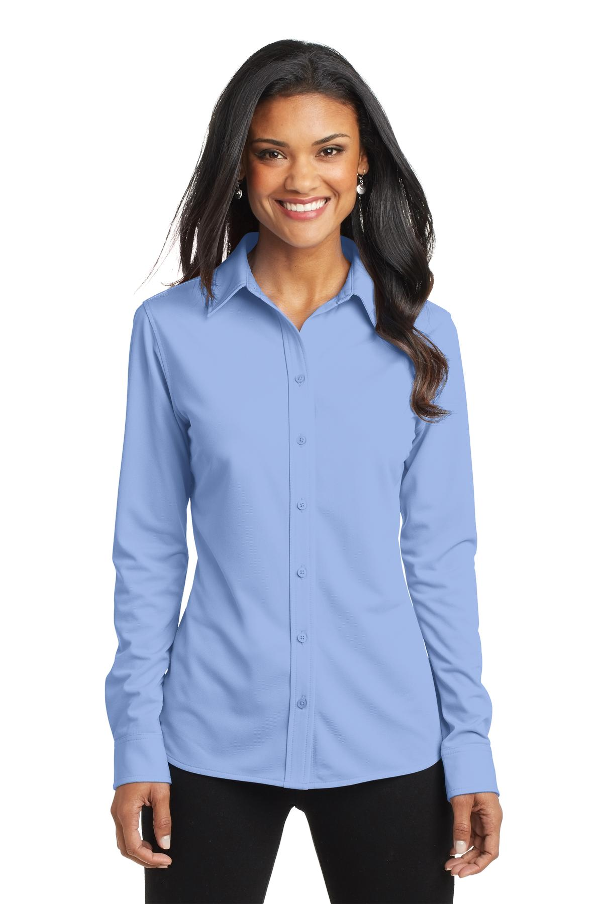 Port Authority ®  Ladies Dimension Knit Dress Shirt. L570 - Dress Shirt Blue