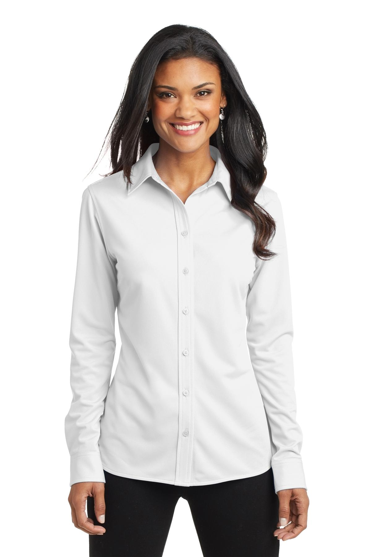 Port Authority ®  Ladies Dimension Knit Dress Shirt. L570 - White