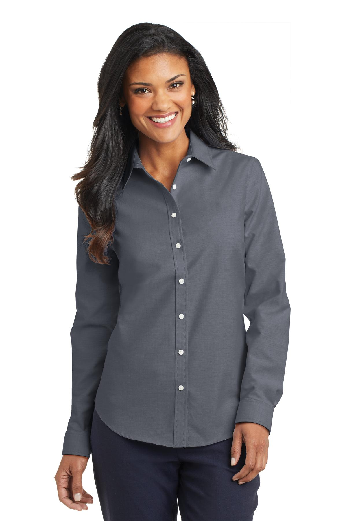 Port Authority ®  Ladies SuperPro ™  Oxford Shirt. L658 - Black