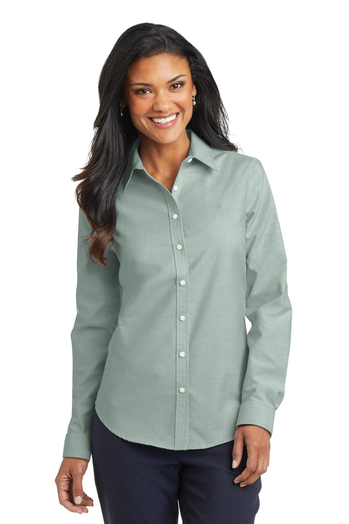 Port Authority ®  Ladies SuperPro ™  Oxford Shirt. L658 - Green