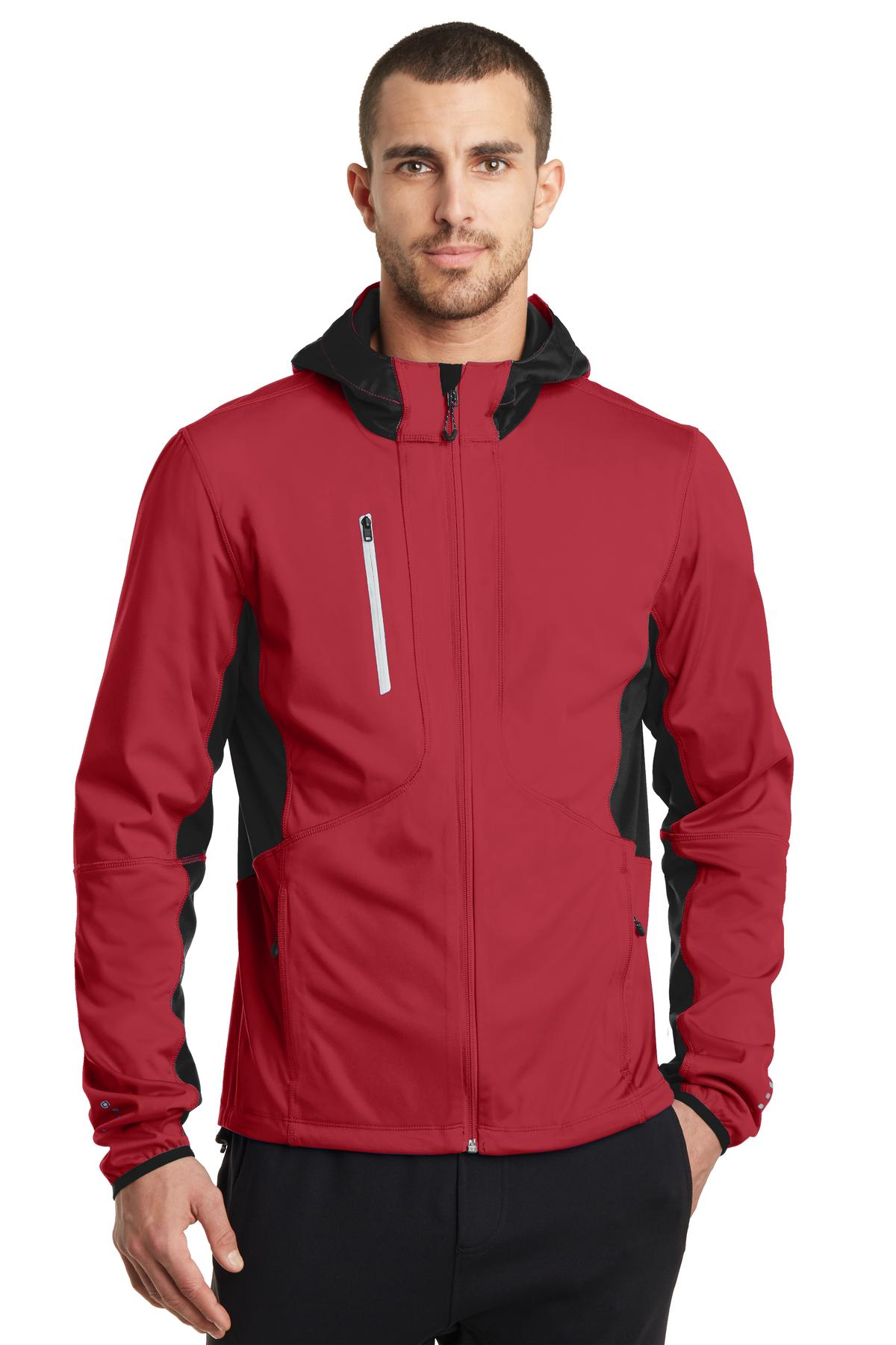 OGIO ®  ENDURANCE Pivot Soft Shell. OE721 - Ripped Red/ Blacktop
