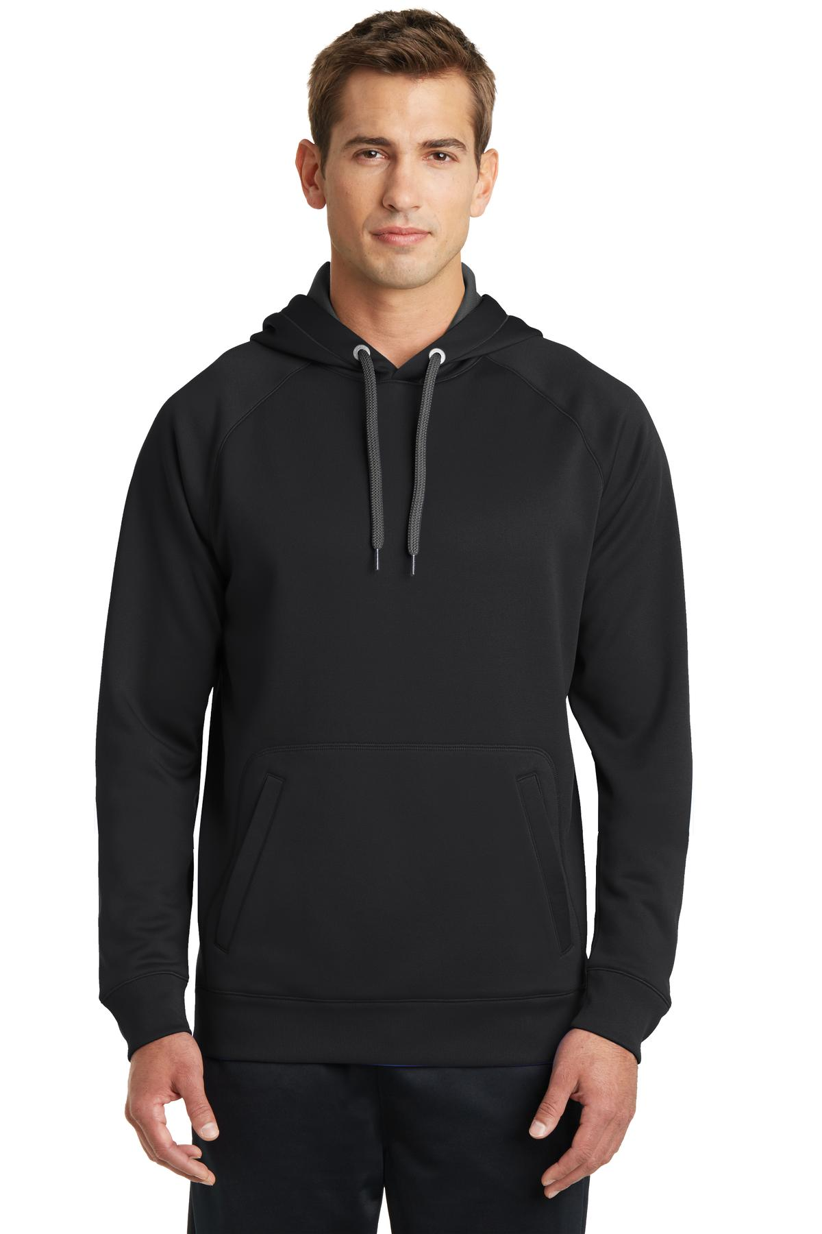 Sport-Tek ®  Tech Fleece Hooded Sweatshirt. ST250 - Black