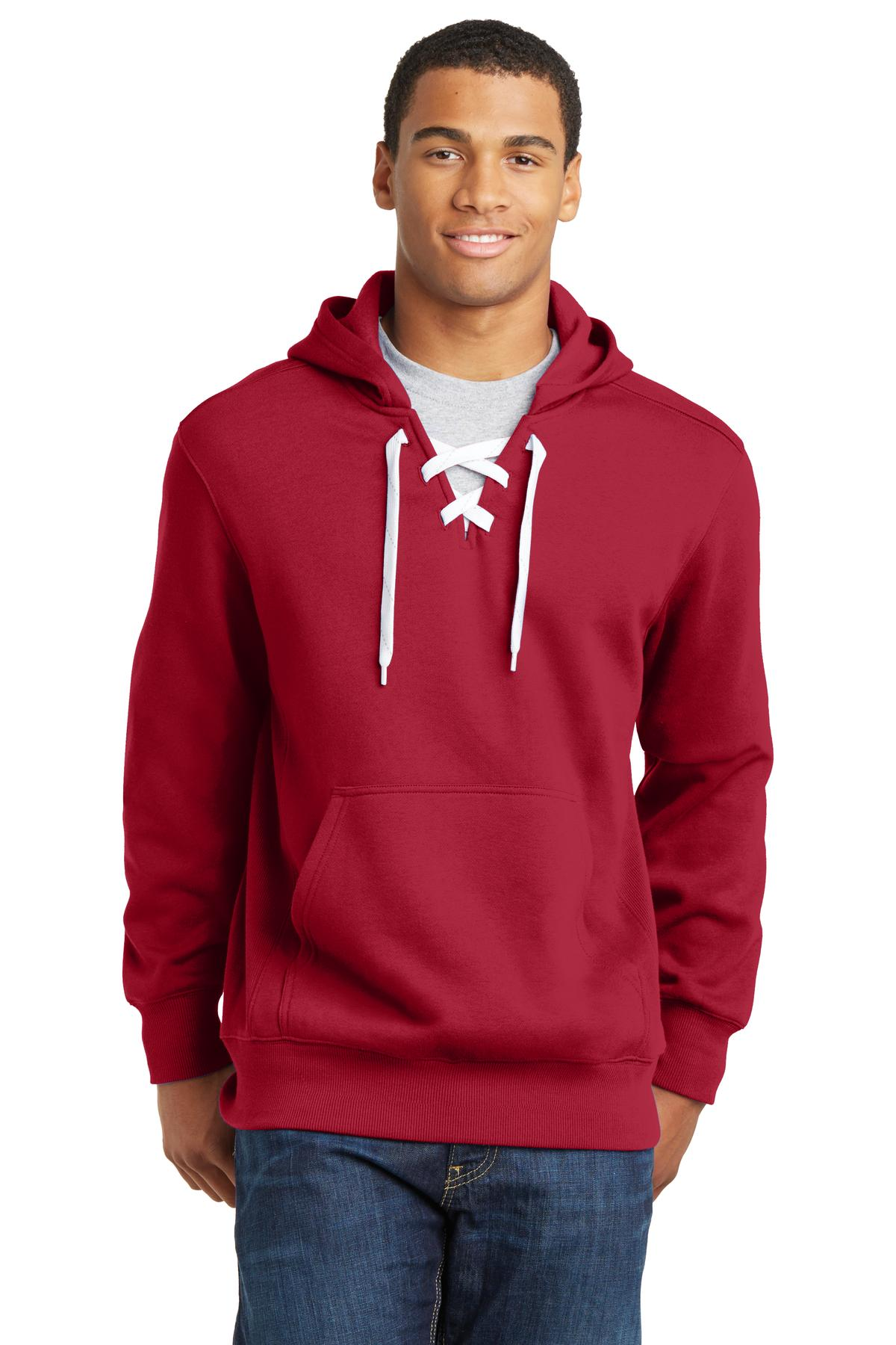 Sport-Tek Lace Up Pullover Hooded Sweatshirt. ST271