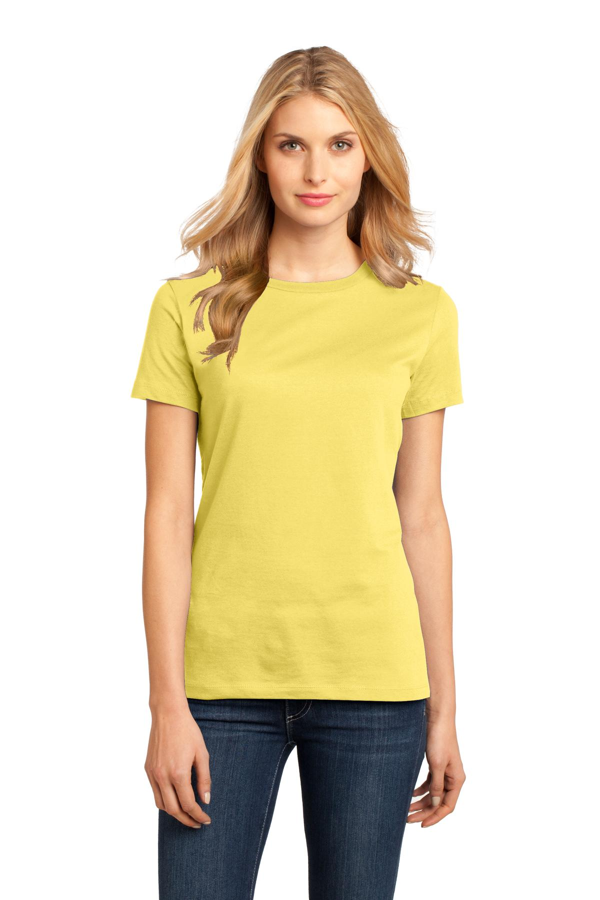 District ®  Women's Perfect Weight ® Tee. DM104L - Yellow