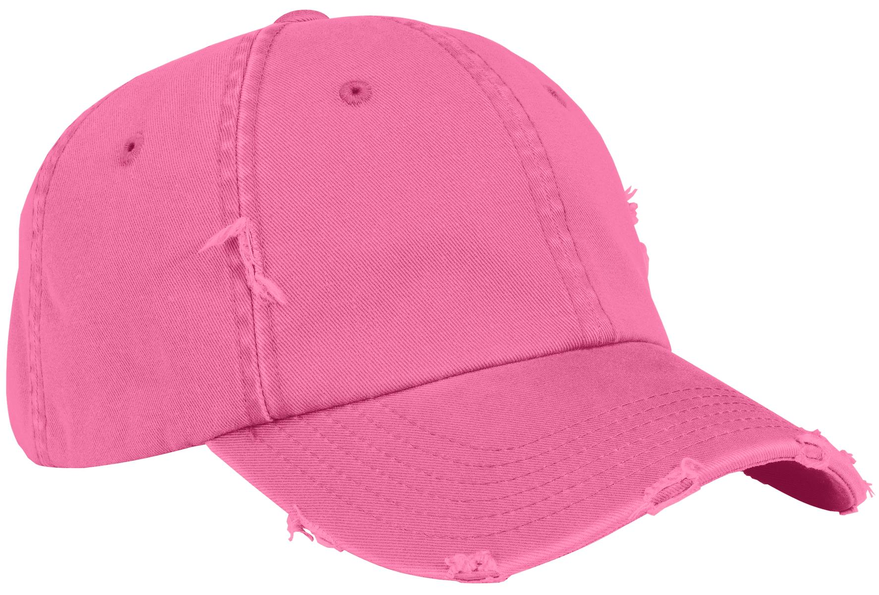 District ®  Distressed Cap. DT600 - True Pink