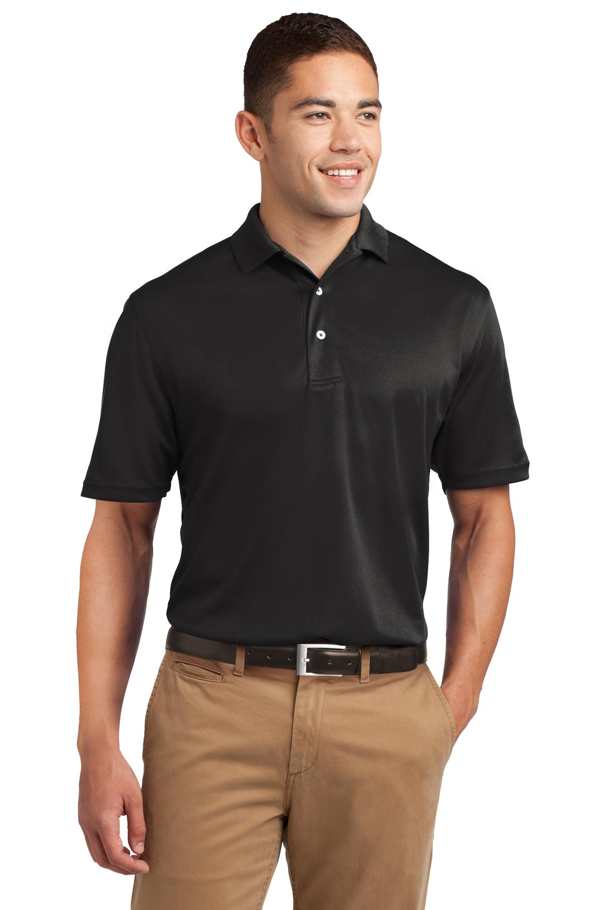 Sport-Tek ®  Tall Dri-Mesh ®  Polo. TK469 - Black