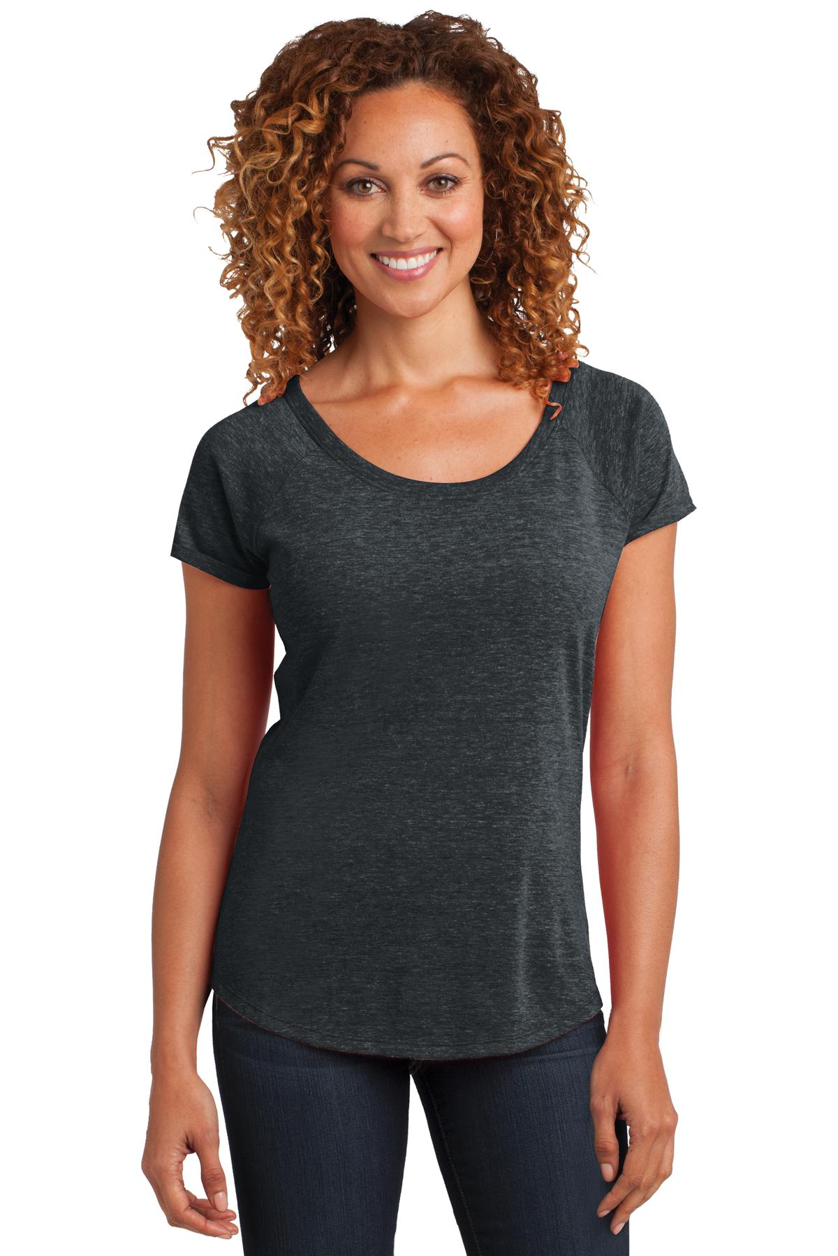 CLOSEOUT District Made Ladies Tri-Blend Scoop Tee. DM443