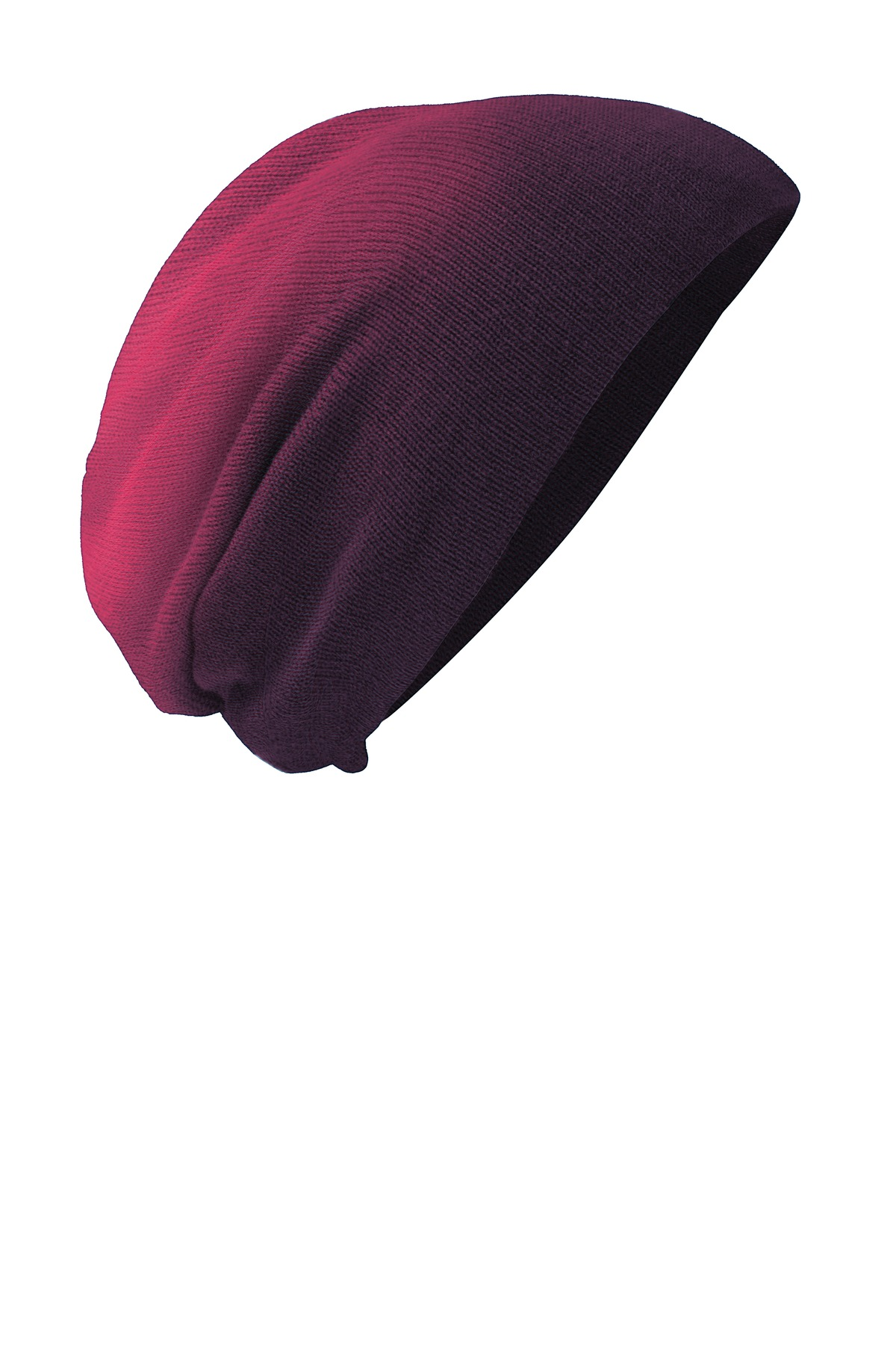 District ®  Slouch Beanie DT618 - Eggplant Dip Dye