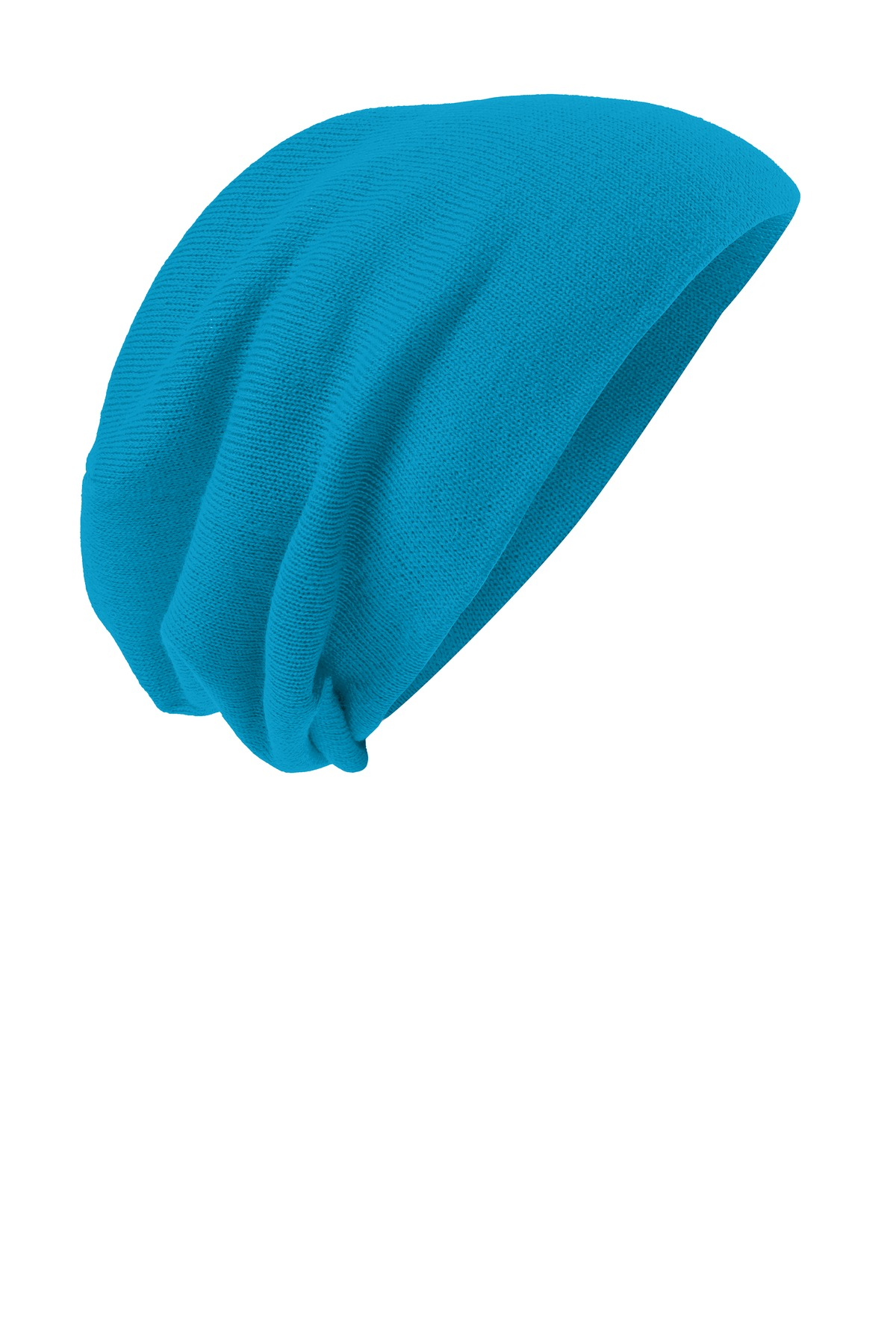 District ®  Slouch Beanie DT618 - Neon Blue