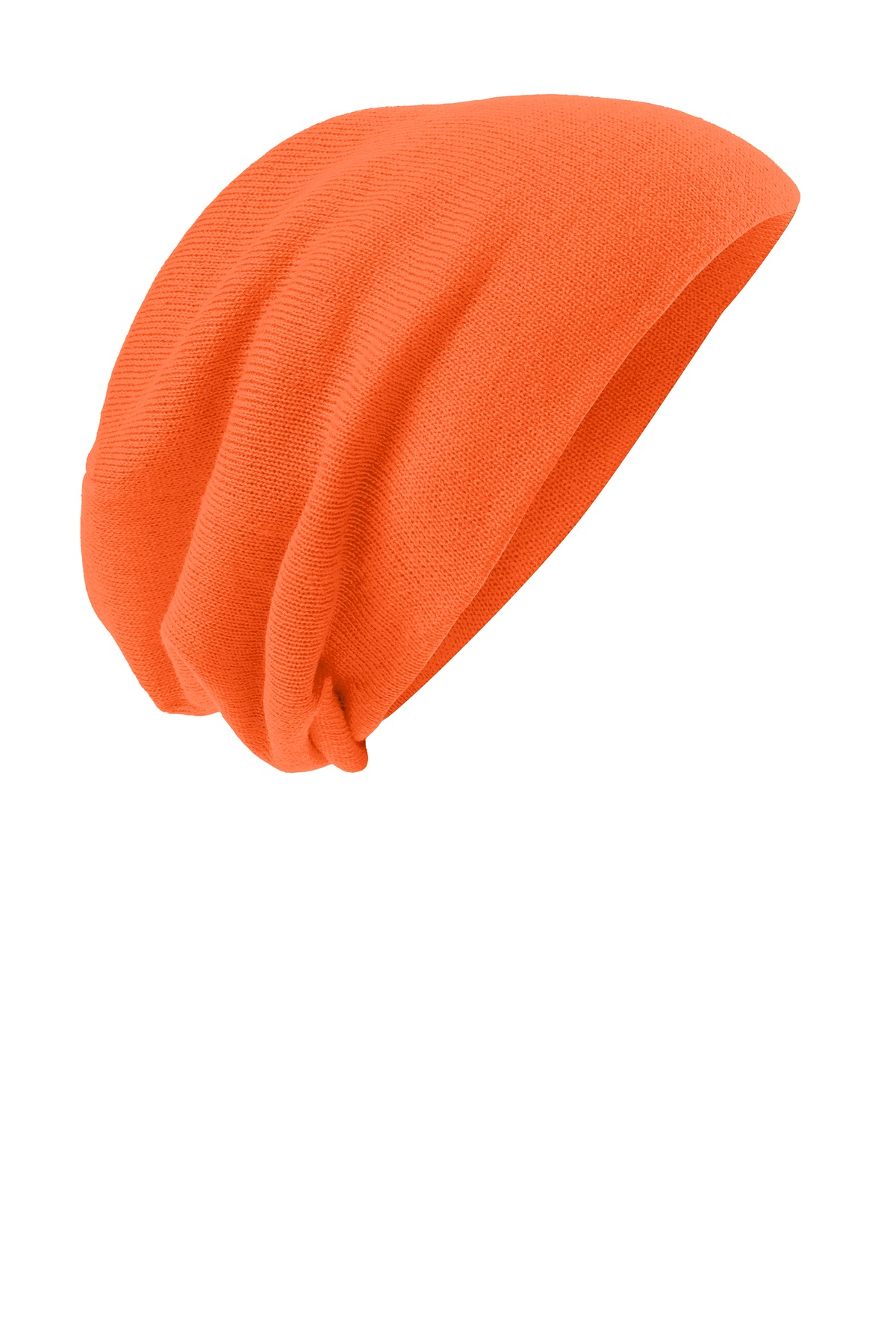 District ®  Slouch Beanie DT618 - Neon Orange