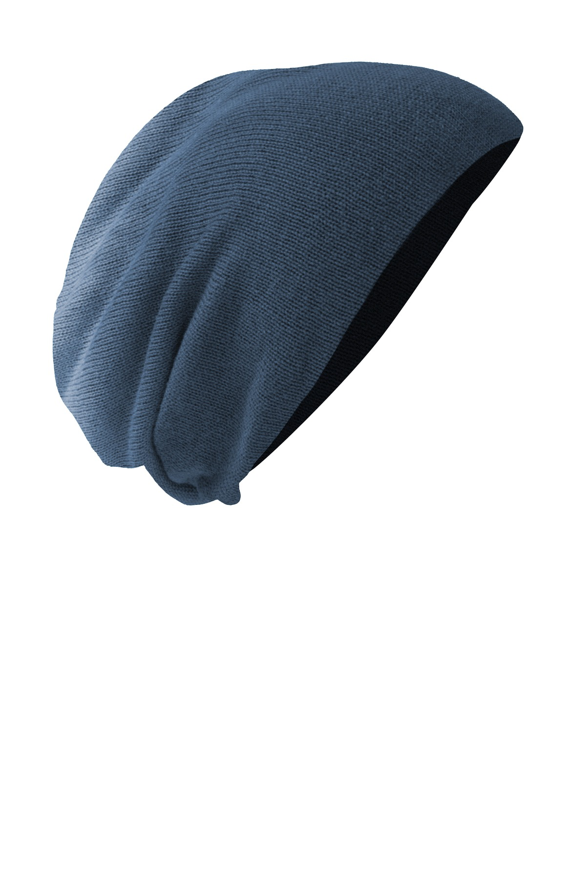 District ®  Slouch Beanie DT618 - Navy Dip Dye