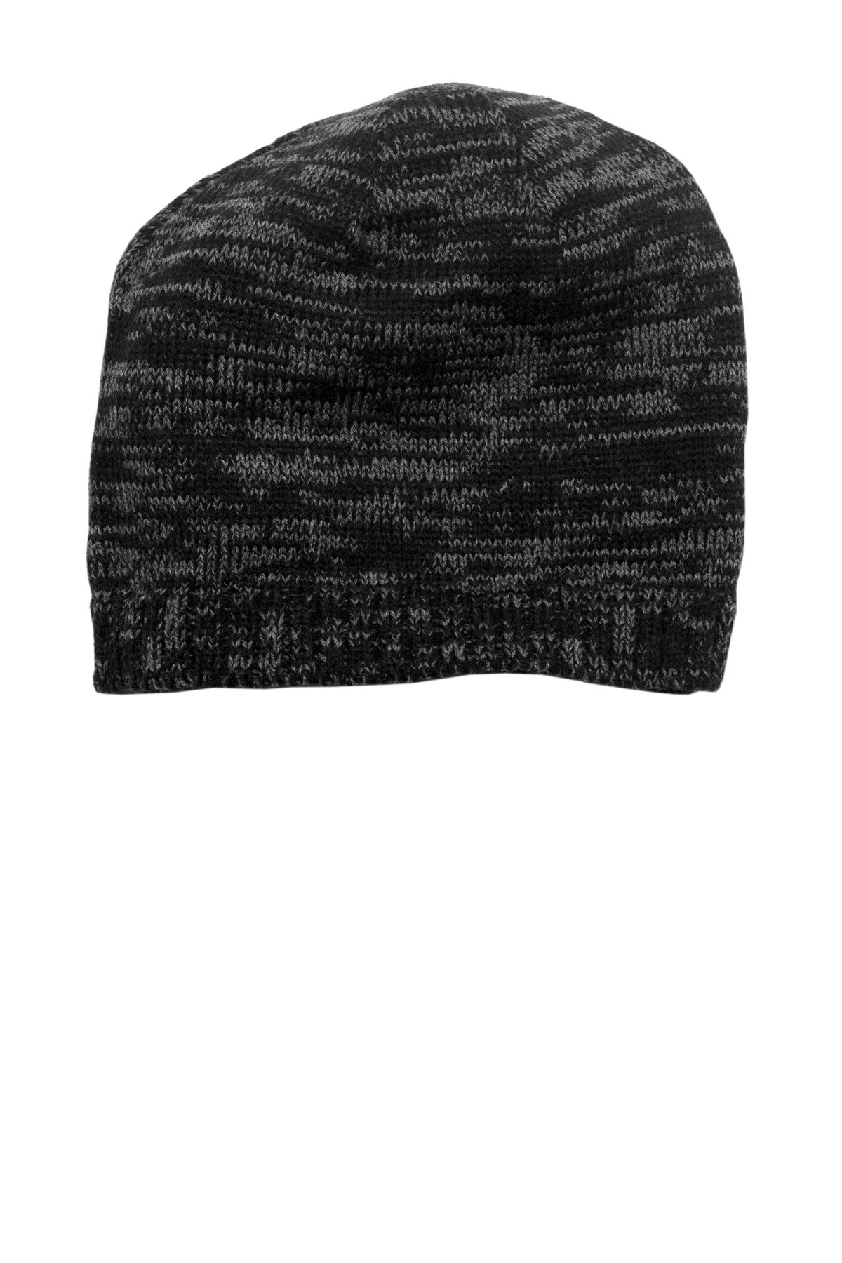 District ®  Spaced-Dyed Beanie DT620 - Black/ Charcoal