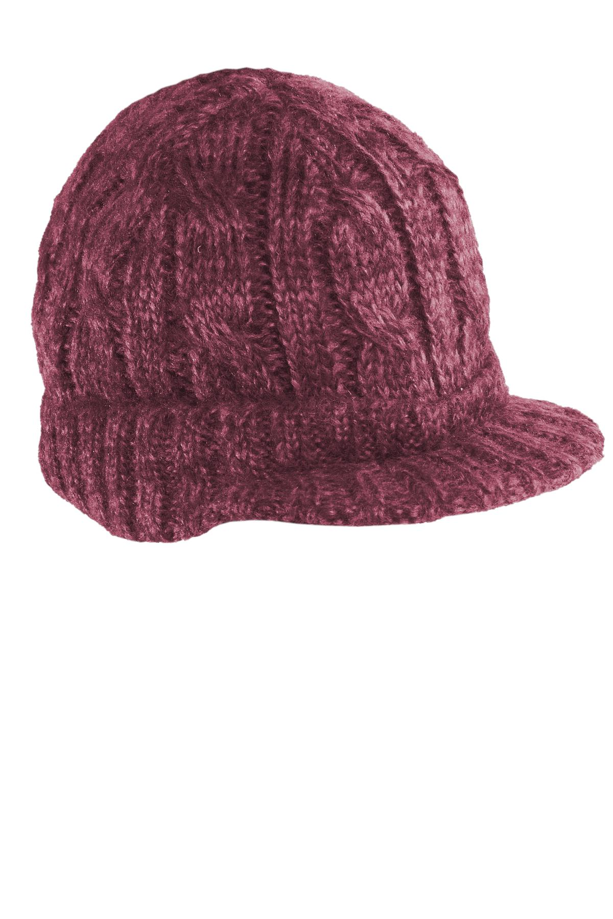 CLOSEOUT District - Cabled Brimmed Hat. DT628