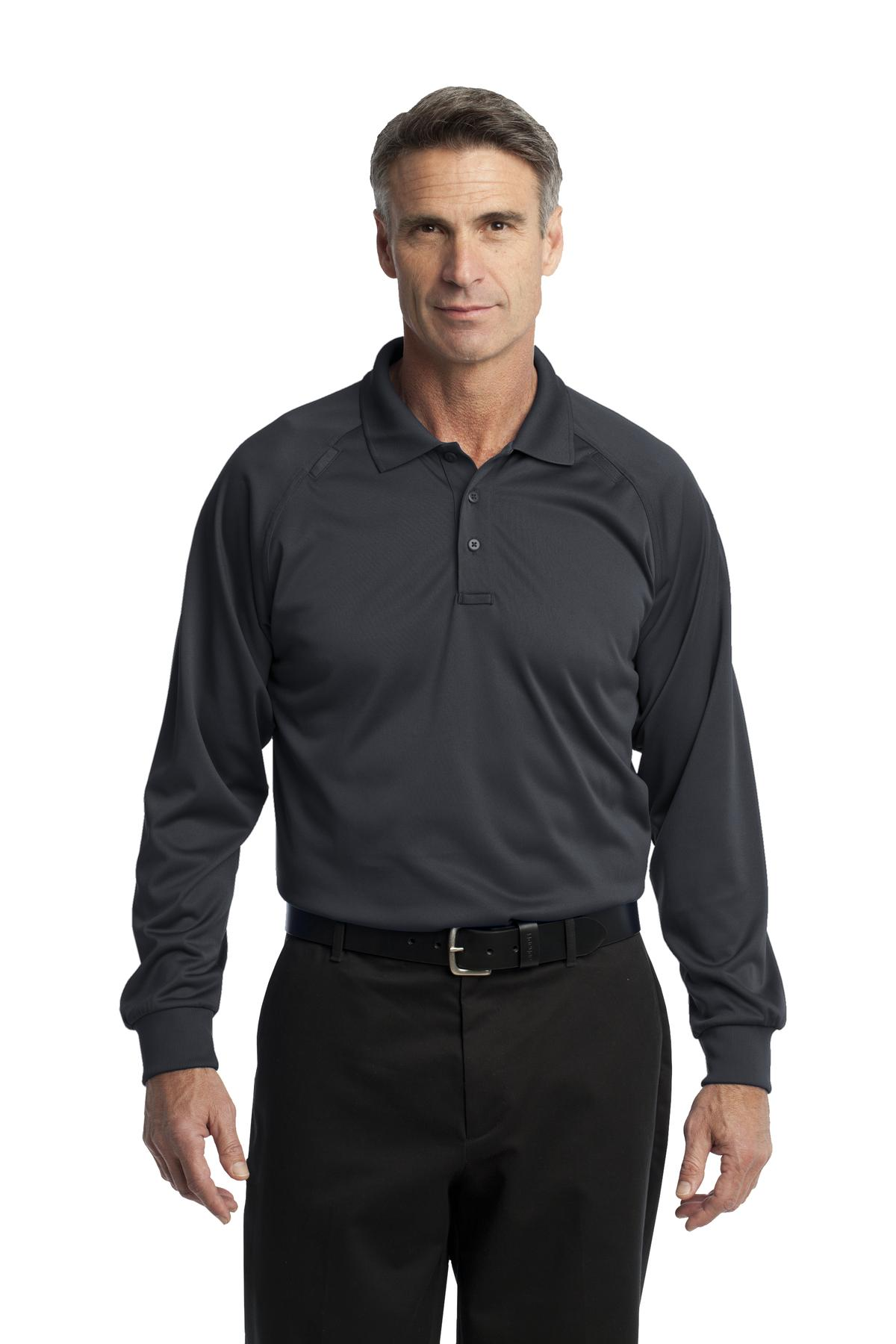 CornerStone ®  - Select Long Sleeve Snag-Proof Tactical Polo. CS410LS - Charcoal