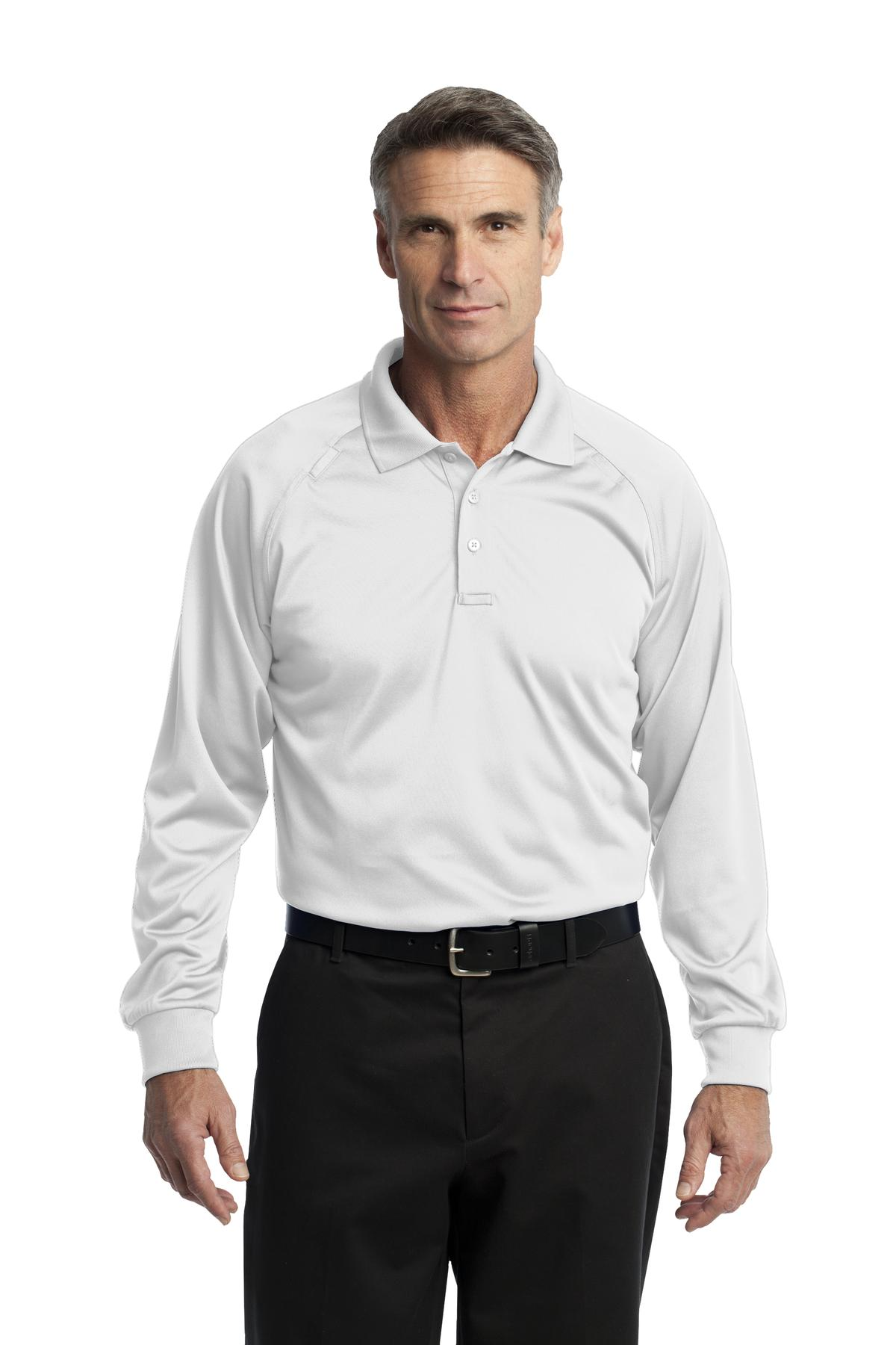 CornerStone ®  - Select Long Sleeve Snag-Proof Tactical Polo. CS410LS - White