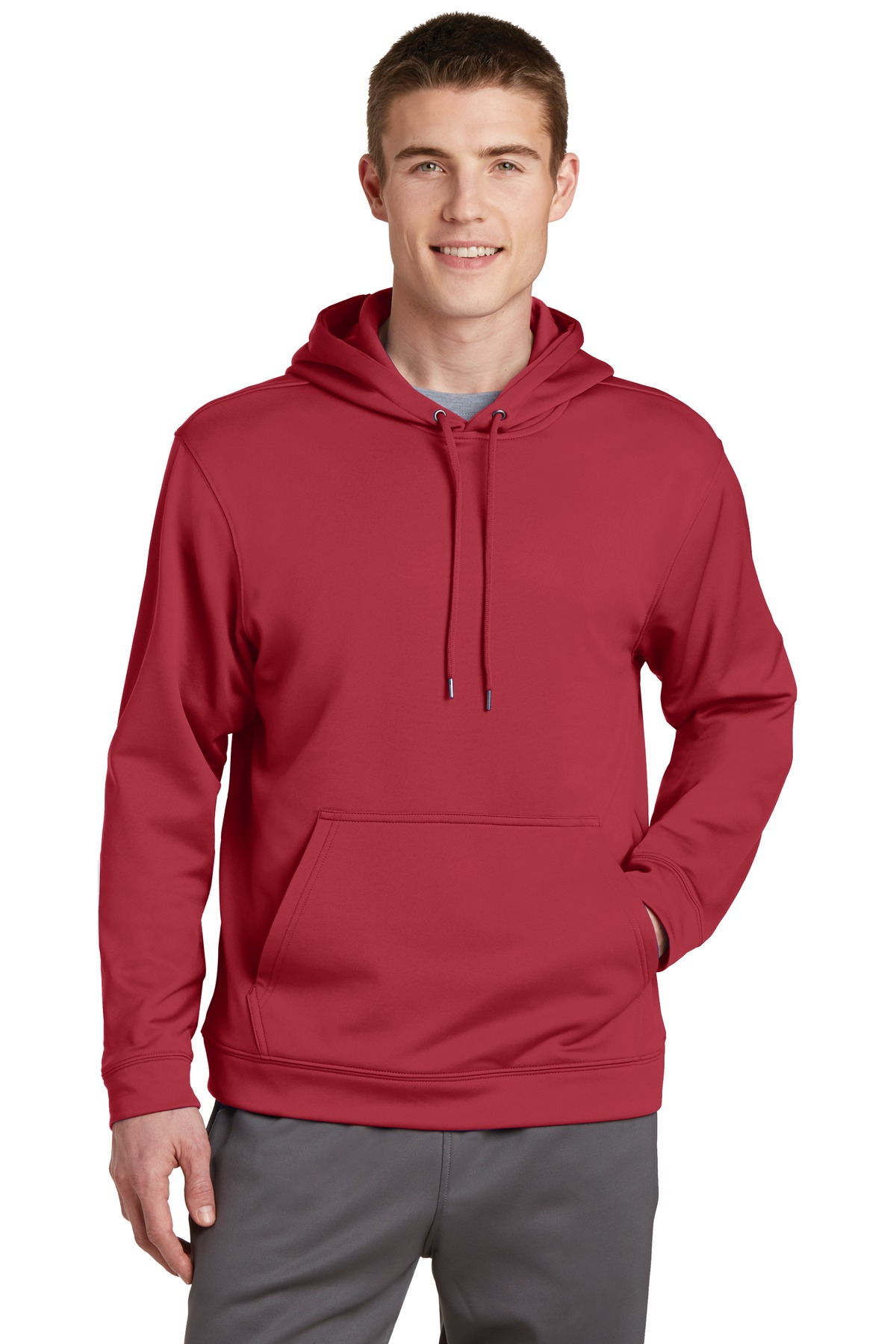 Sport-Tek ®  Sport-Wick ®  Fleece Hooded Pullover.  F244 - Deep Red