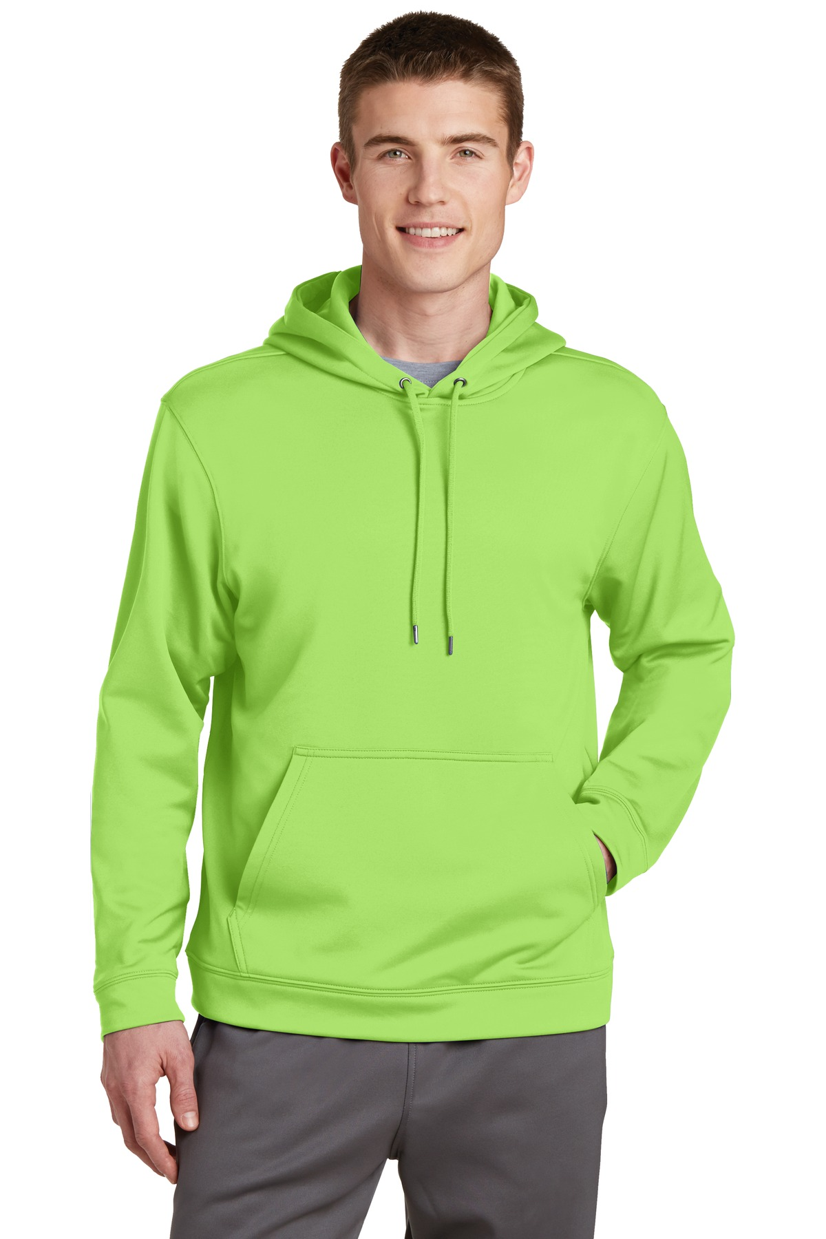 Sport-Tek ®  Sport-Wick ®  Fleece Hooded Pullover.  F244 - Lime Shock