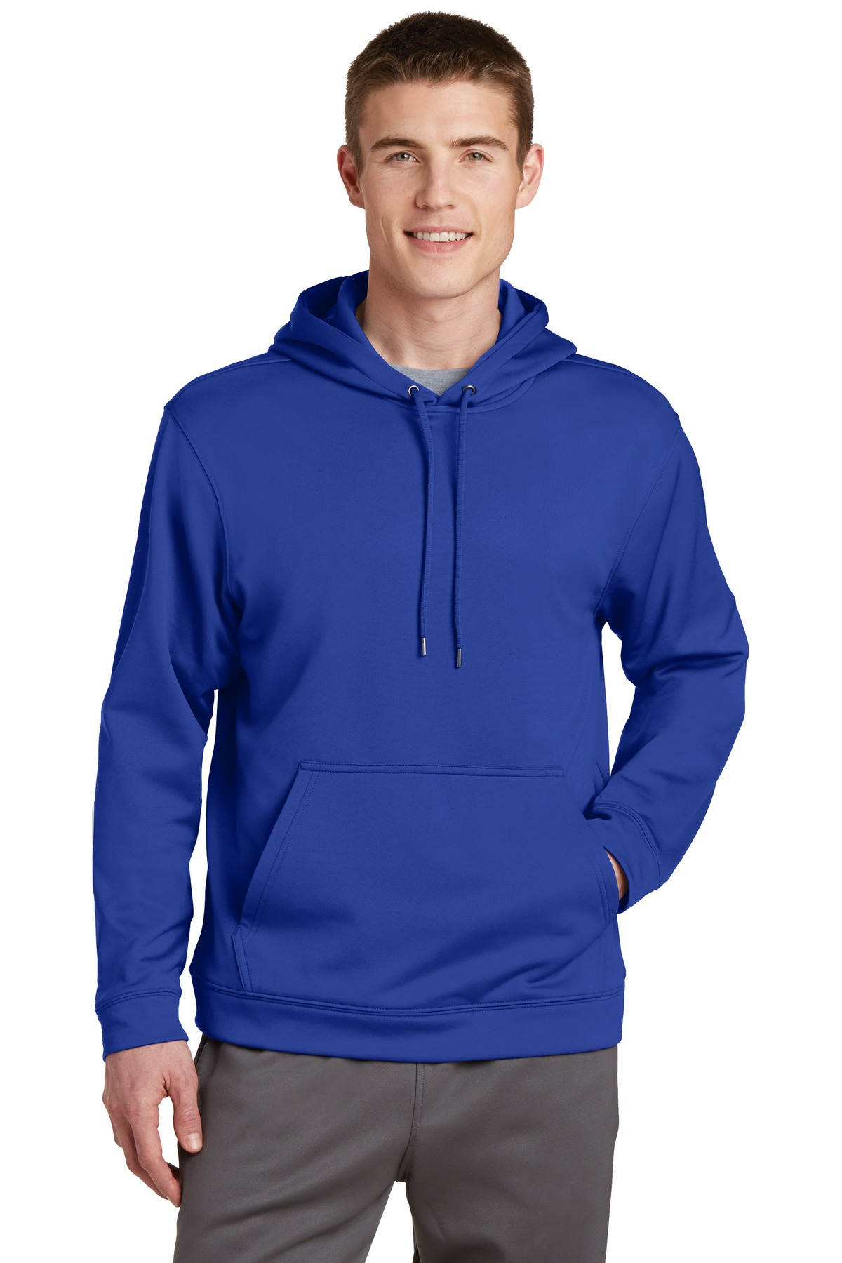 Sport-Tek ®  Sport-Wick ®  Fleece Hooded Pullover.  F244 - True Royal