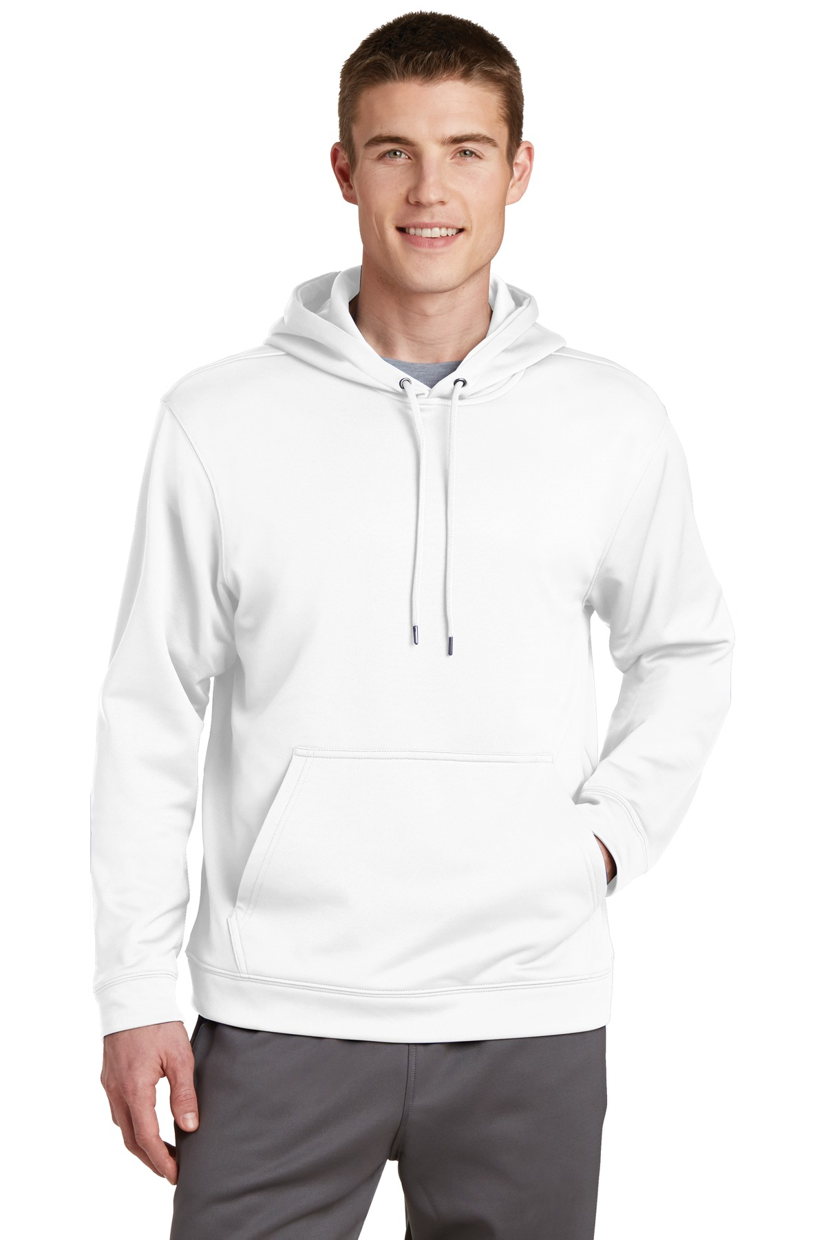 Sport-Tek ®  Sport-Wick ®  Fleece Hooded Pullover.  F244 - White