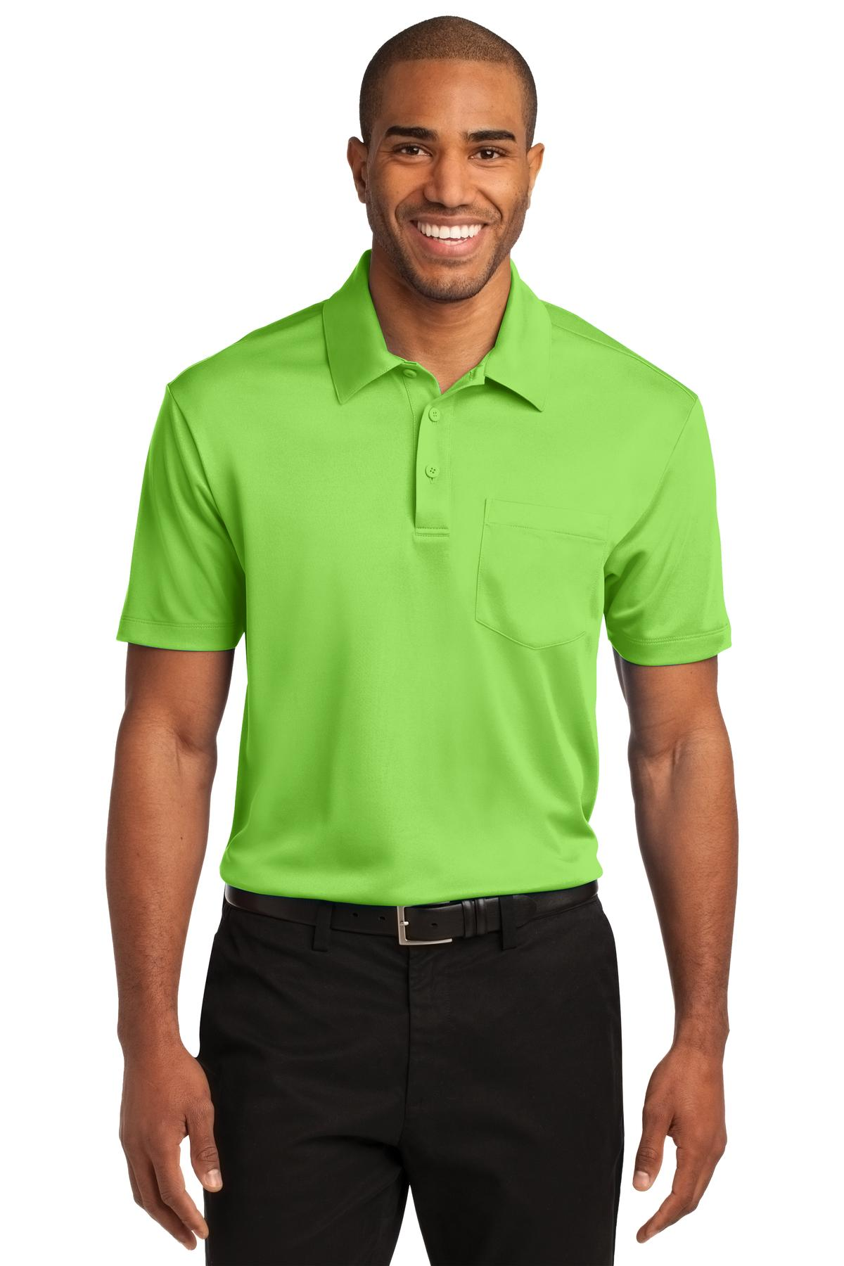 Port Authority ®  Silk Touch™ Performance Pocket Polo. K540P - Lime
