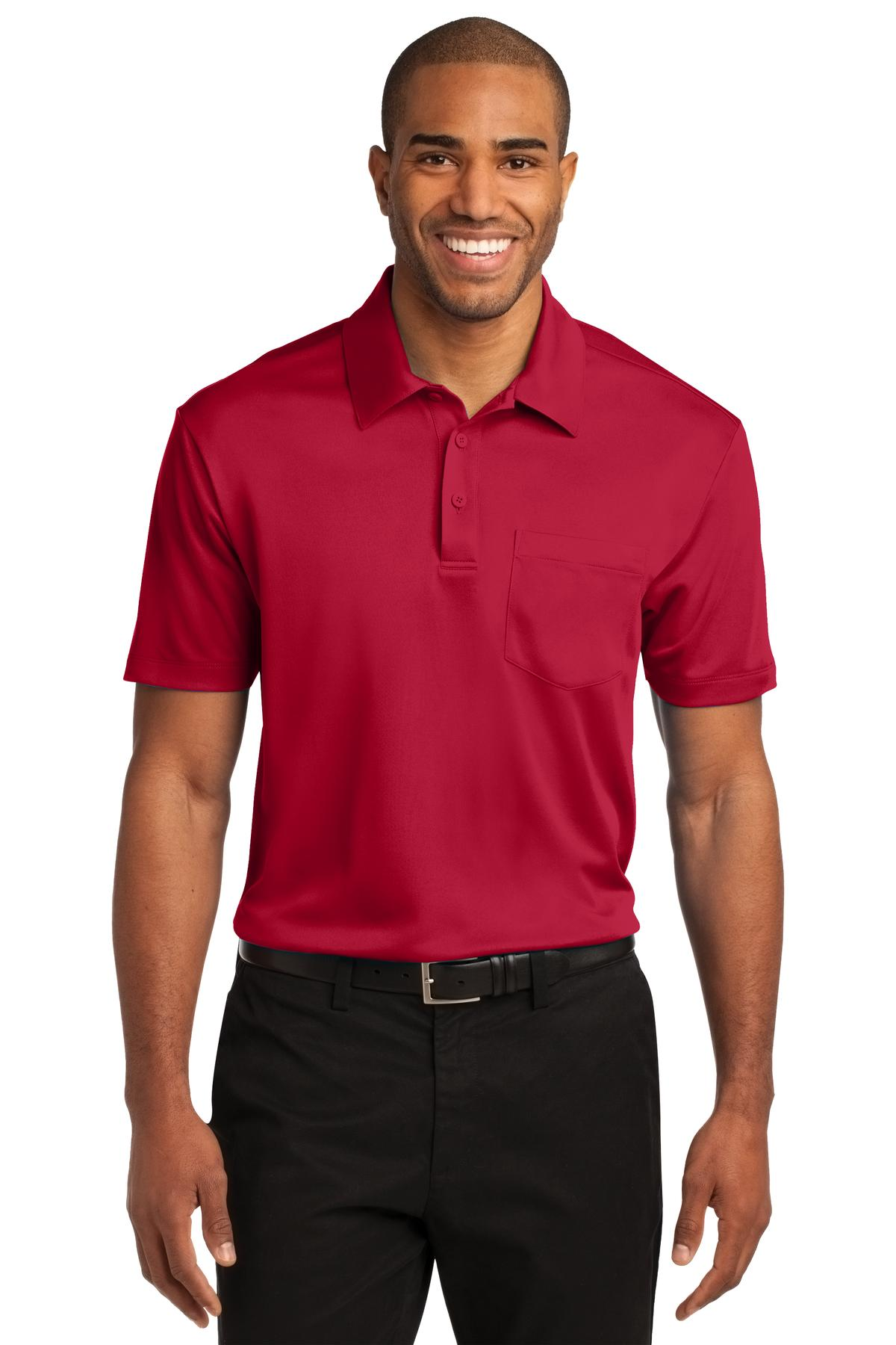 Port Authority Silk Touch Performance Pocket Polo. K540P