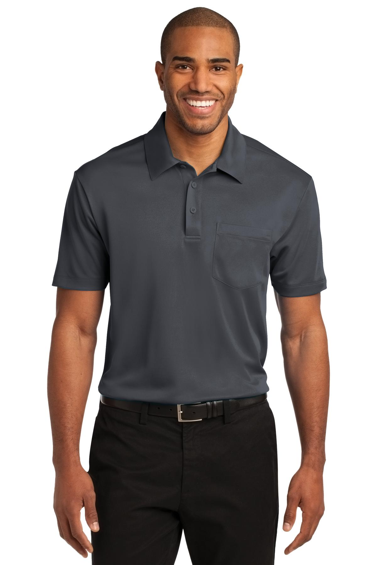 Port Authority ®  Silk Touch™ Performance Pocket Polo. K540P - Steel Grey