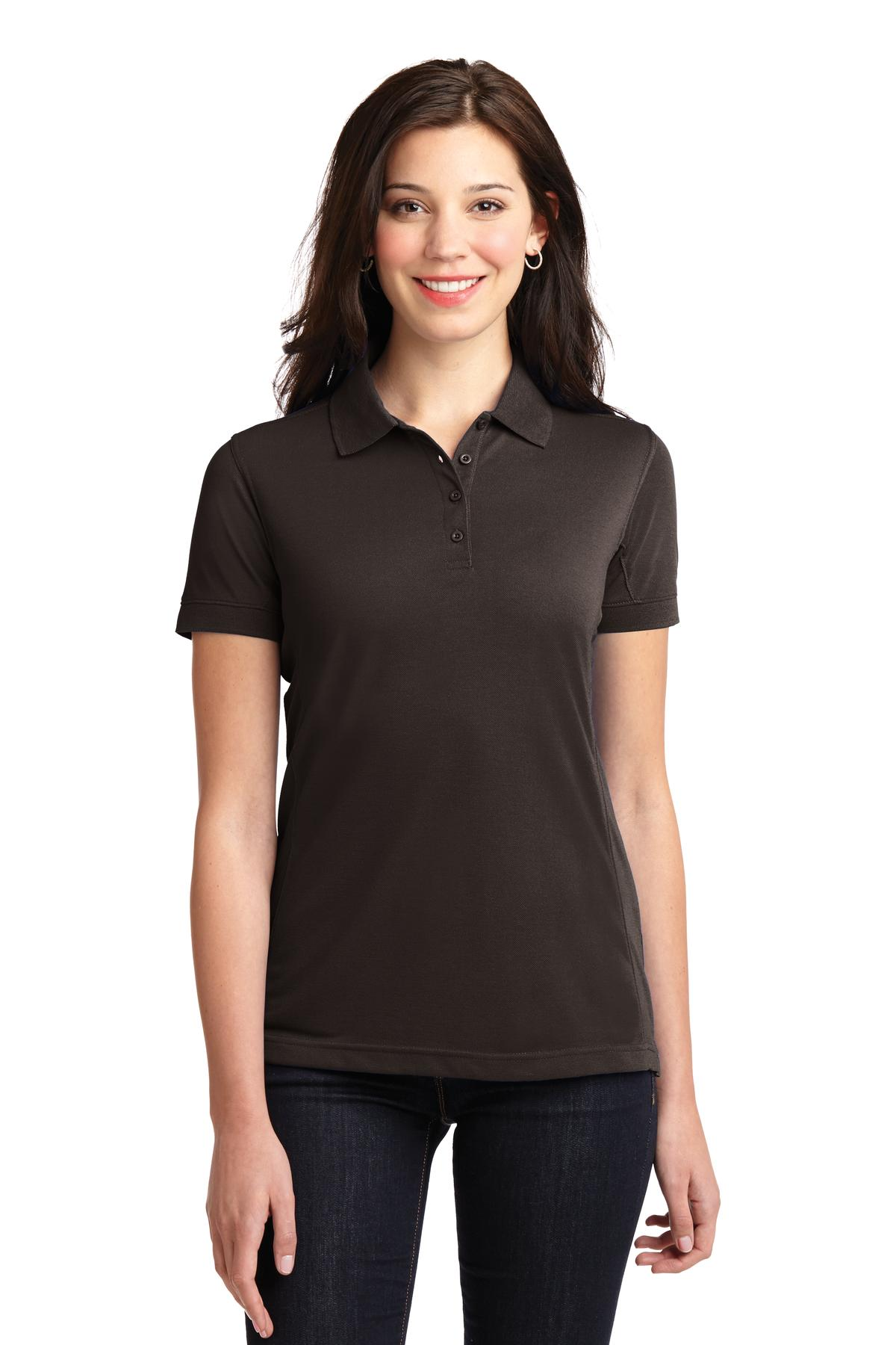 Port Authority ®  Ladies 5-in-1 Performance Pique Polo. L567 - Chocolate Brown