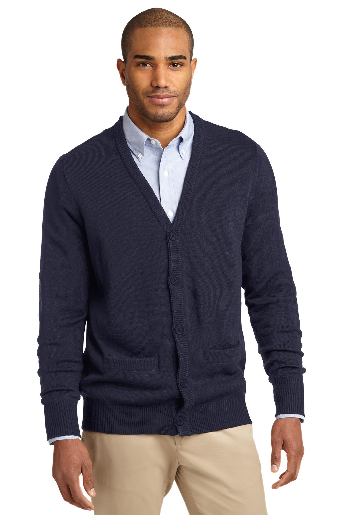 Port Authority Value V-Neck Cardigan Sweater with Pockets. SW302
