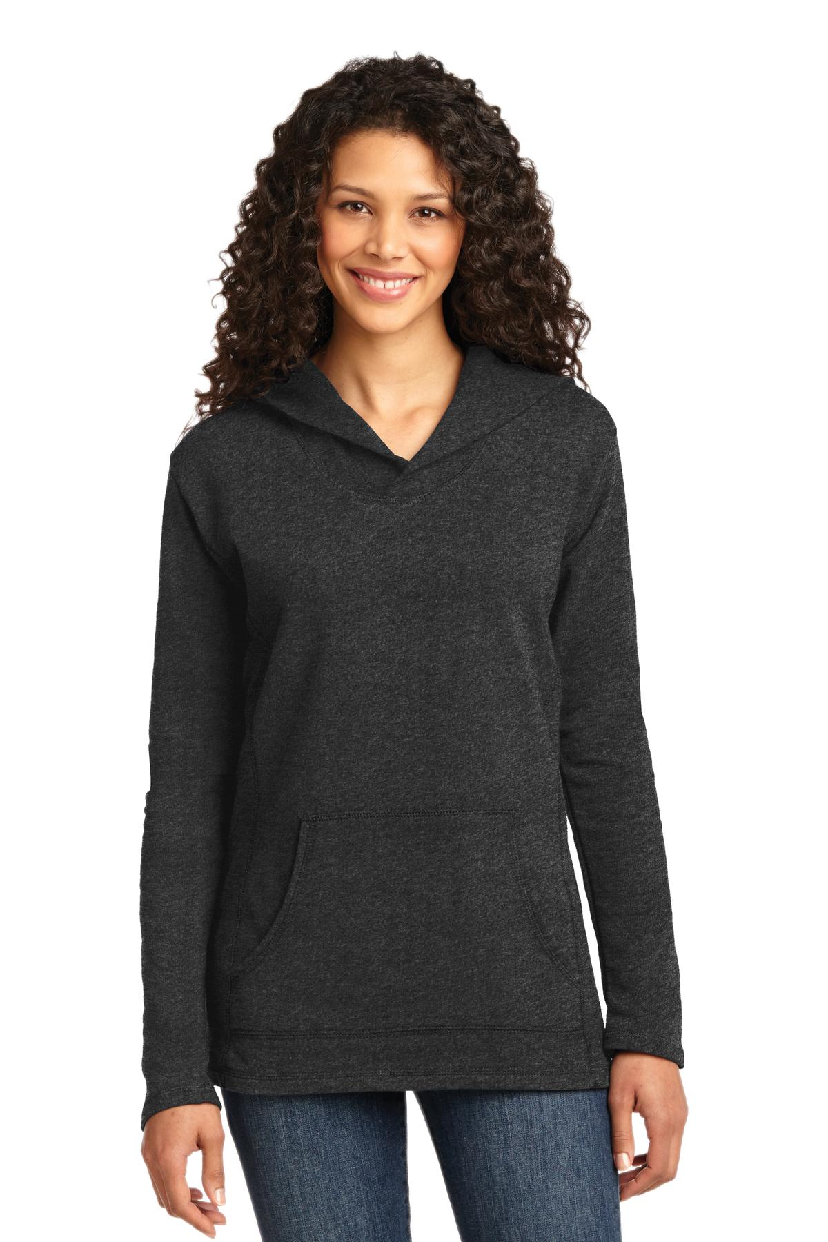 Anvil ®  Ladies French Terry Pullover Hooded Sweatshirt. 72500L - Heather Dark Grey