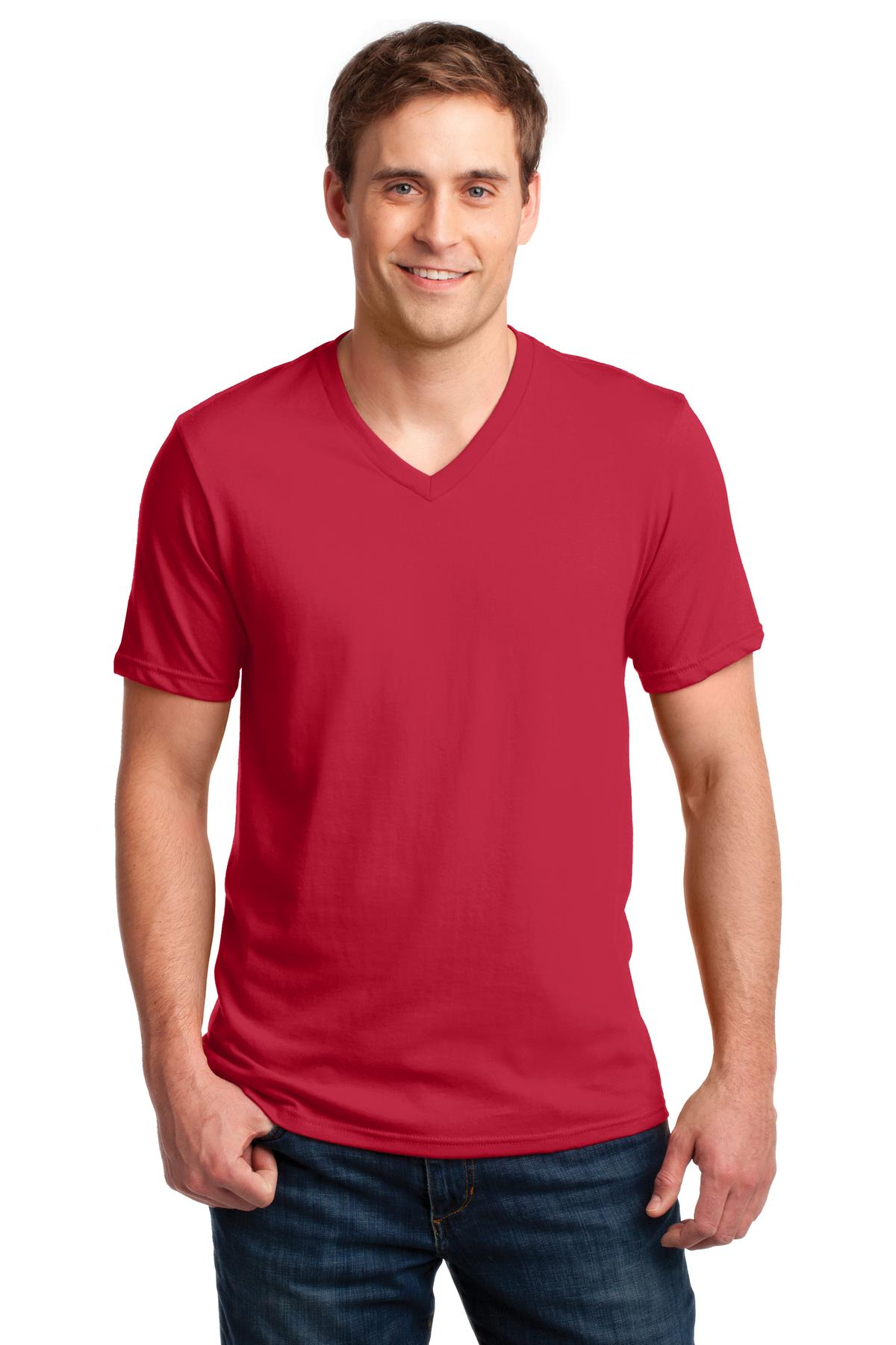 Anvil 100% Combed Ring Spun Cotton V-Neck T-Shirt. 982