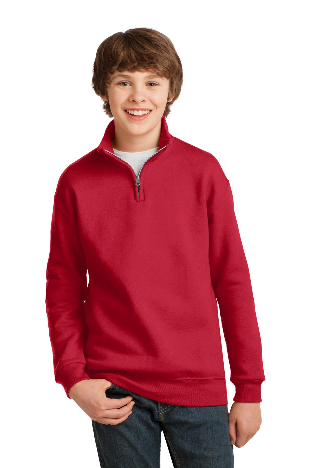 JERZEES Youth NuBlend 1/4-Zip Cadet Collar Sweatshirt. 995Y