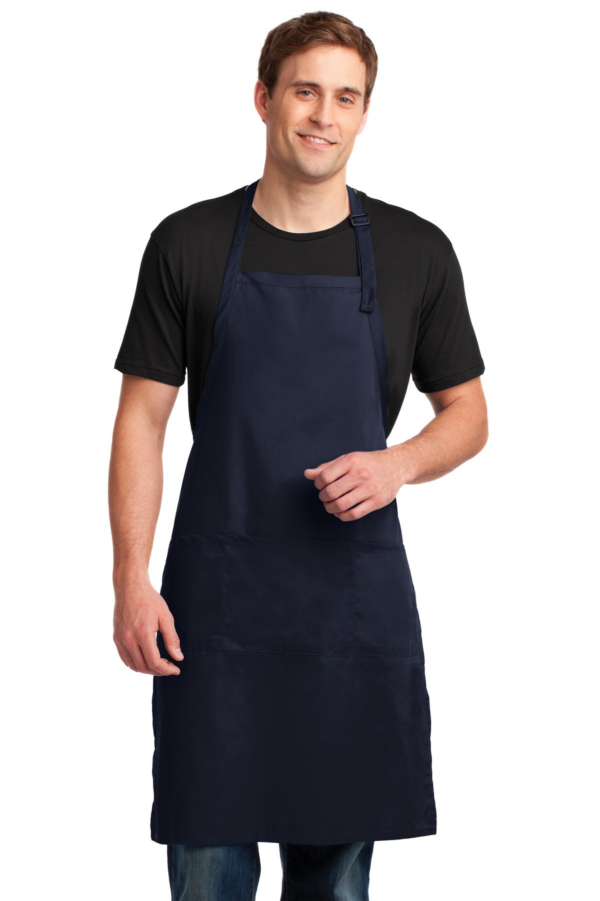 Port Authority ®  Easy Care Extra Long Bib Apron with Stain Release. A700 - Navy