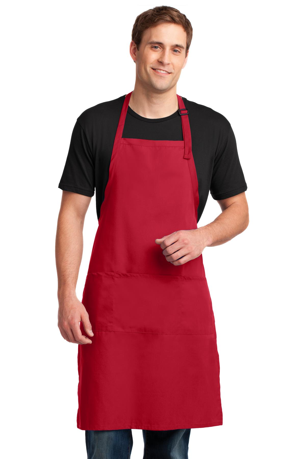Port Authority ®  Easy Care Extra Long Bib Apron with Stain Release. A700 - Red