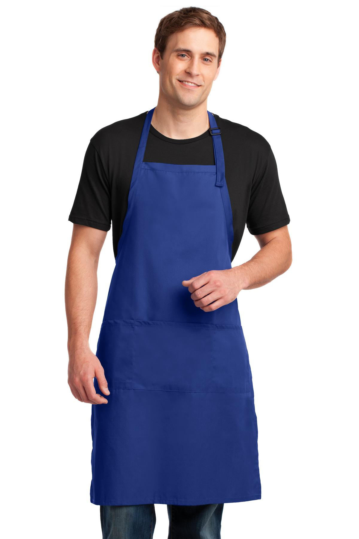 Port Authority ®  Easy Care Extra Long Bib Apron with Stain Release. A700 - Royal