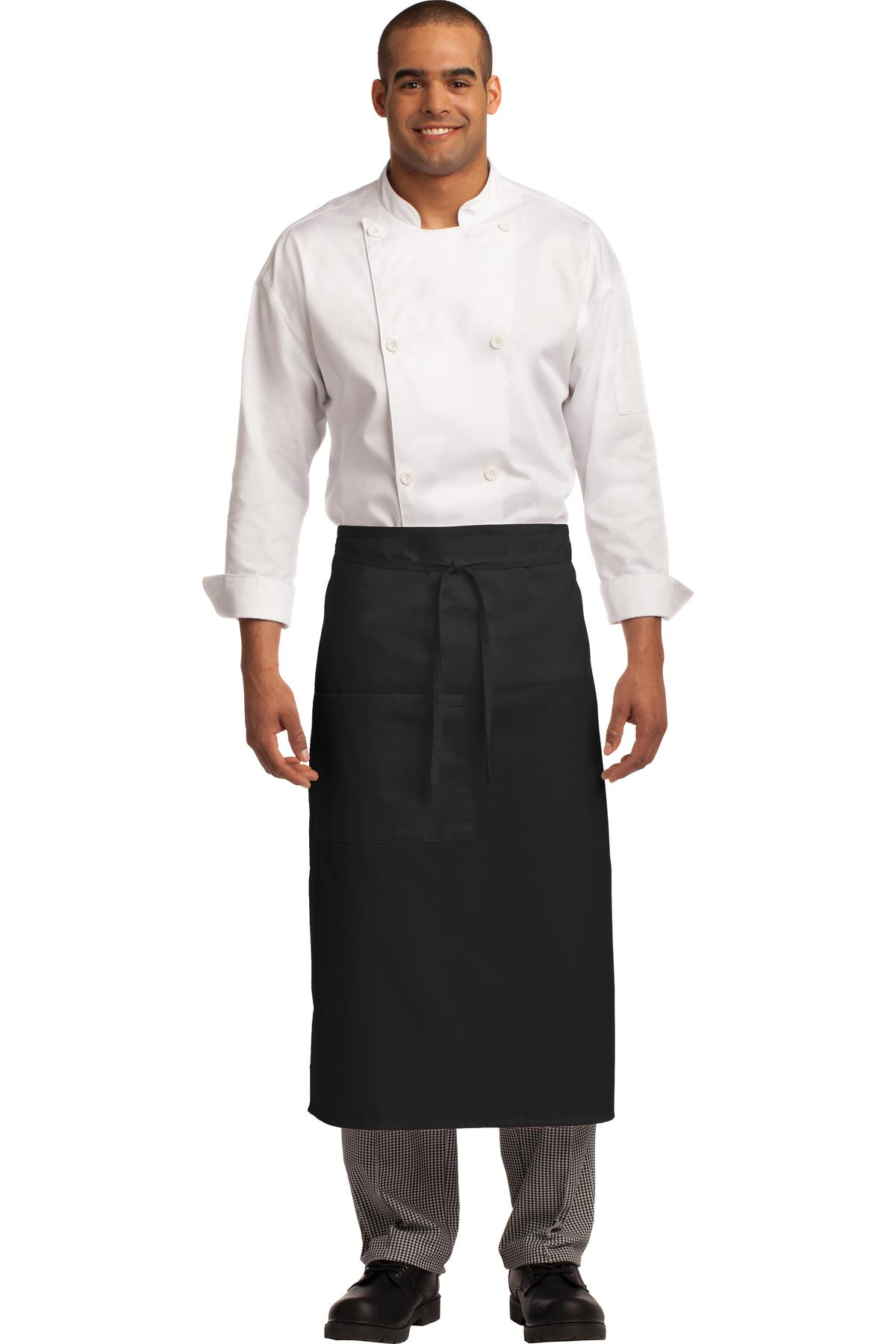 Port Authority ®  Easy Care Full Bistro Apron with Stain Release. A701 - Black