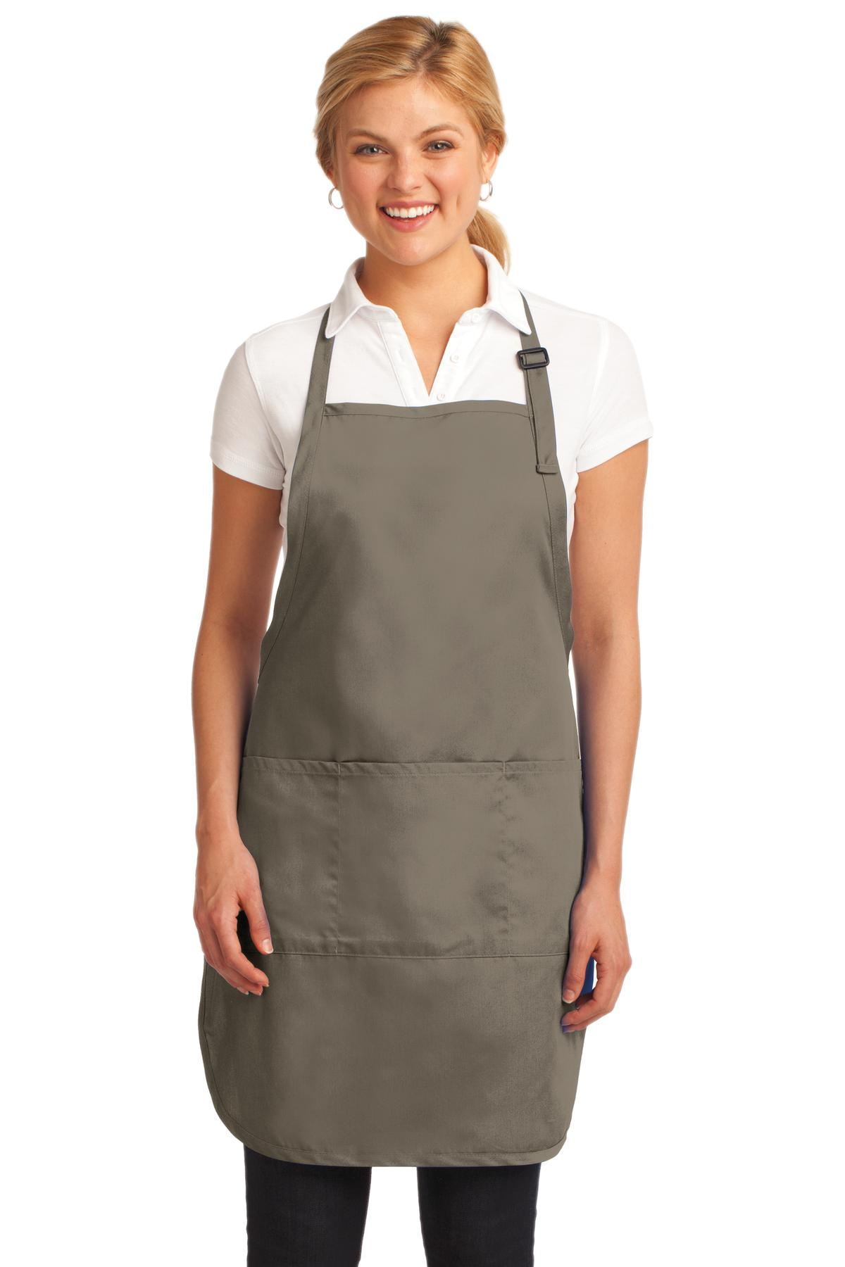 Port Authority ®  Easy Care Full-Length Apron with Stain Release. A703 - Khaki