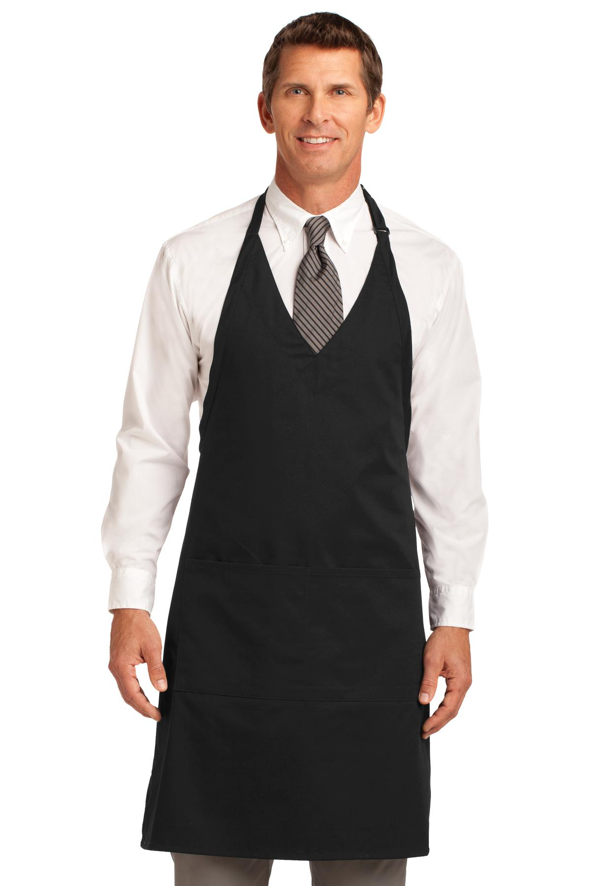 Port Authority ®  Easy Care Tuxedo Apron with Stain Release. A704 - Black
